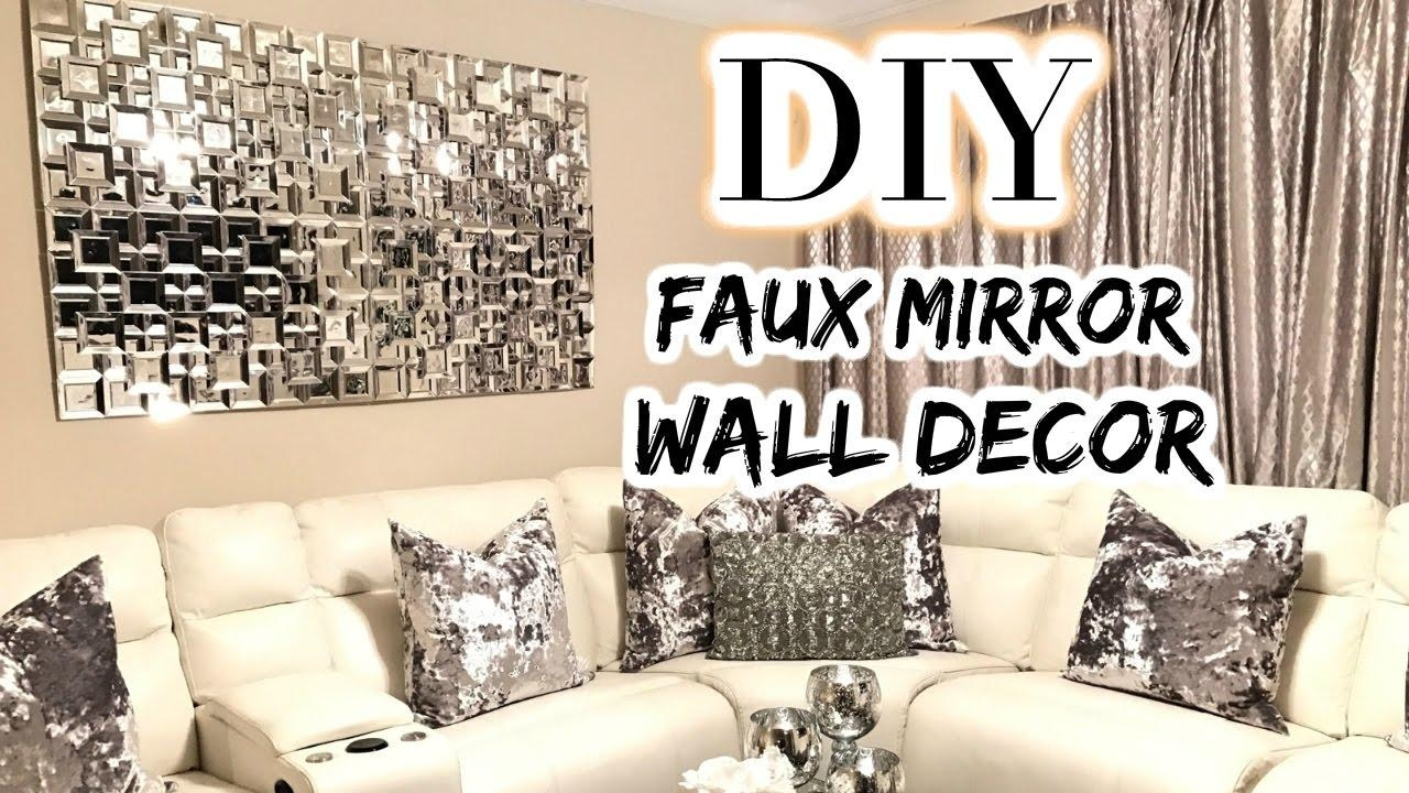 Dollar Tree Diy Faux Mirror | The Best Diy Home Decor/wedding 2017 With Regard To Diy Mirror Wall Art (Image 18 of 20)