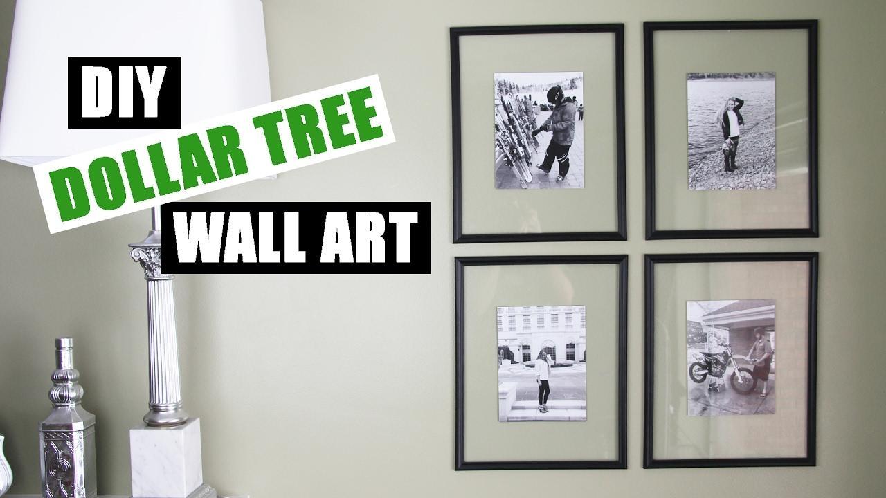 Dollar Tree Diy Floating Frame Art   Dollar Store Diy Gallery Wall With Regard To Wall Art Frames (Image 10 of 20)