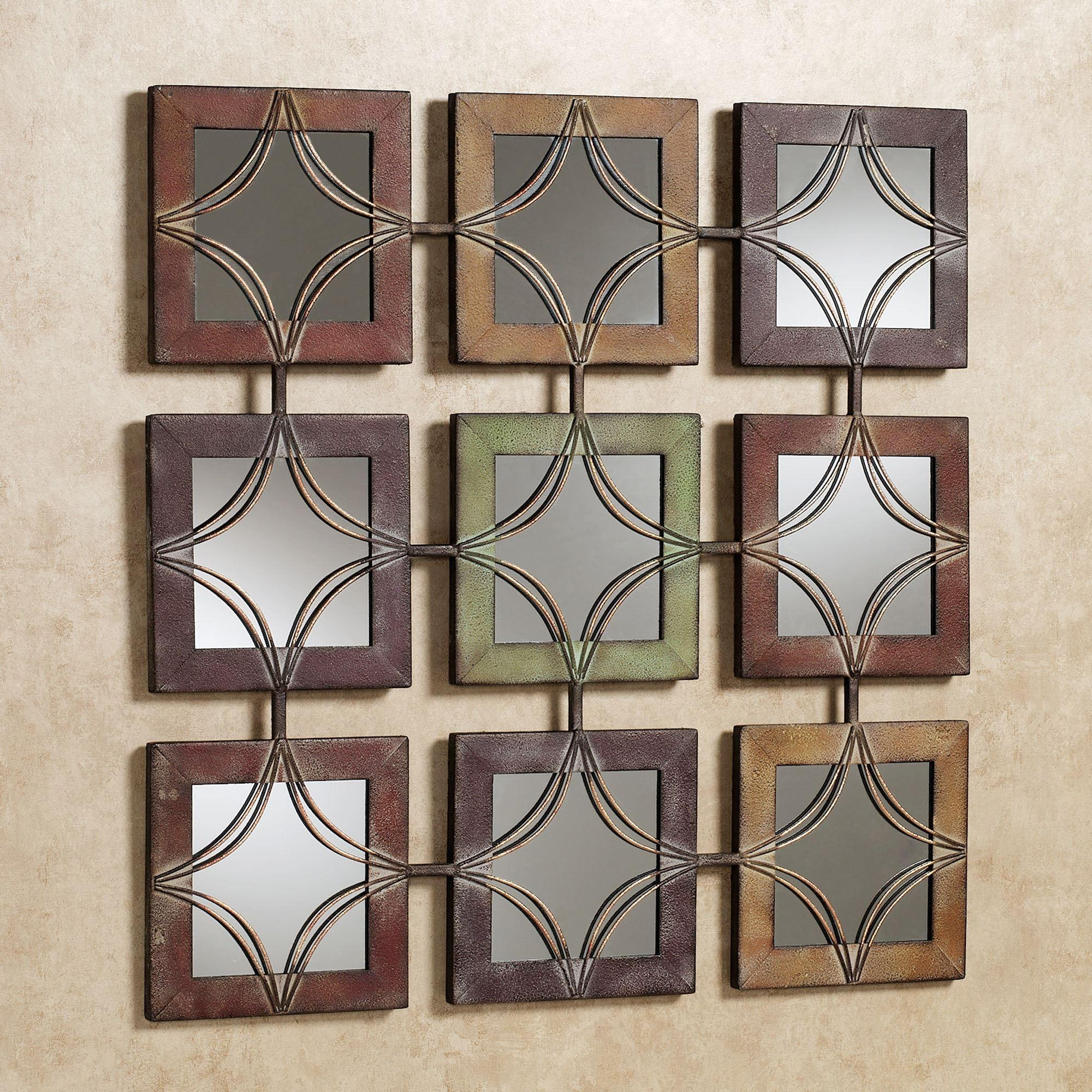 Domini Mirrored Metal Wall Art Within Jeweled Metal Wall Art (Image 5 of 20)