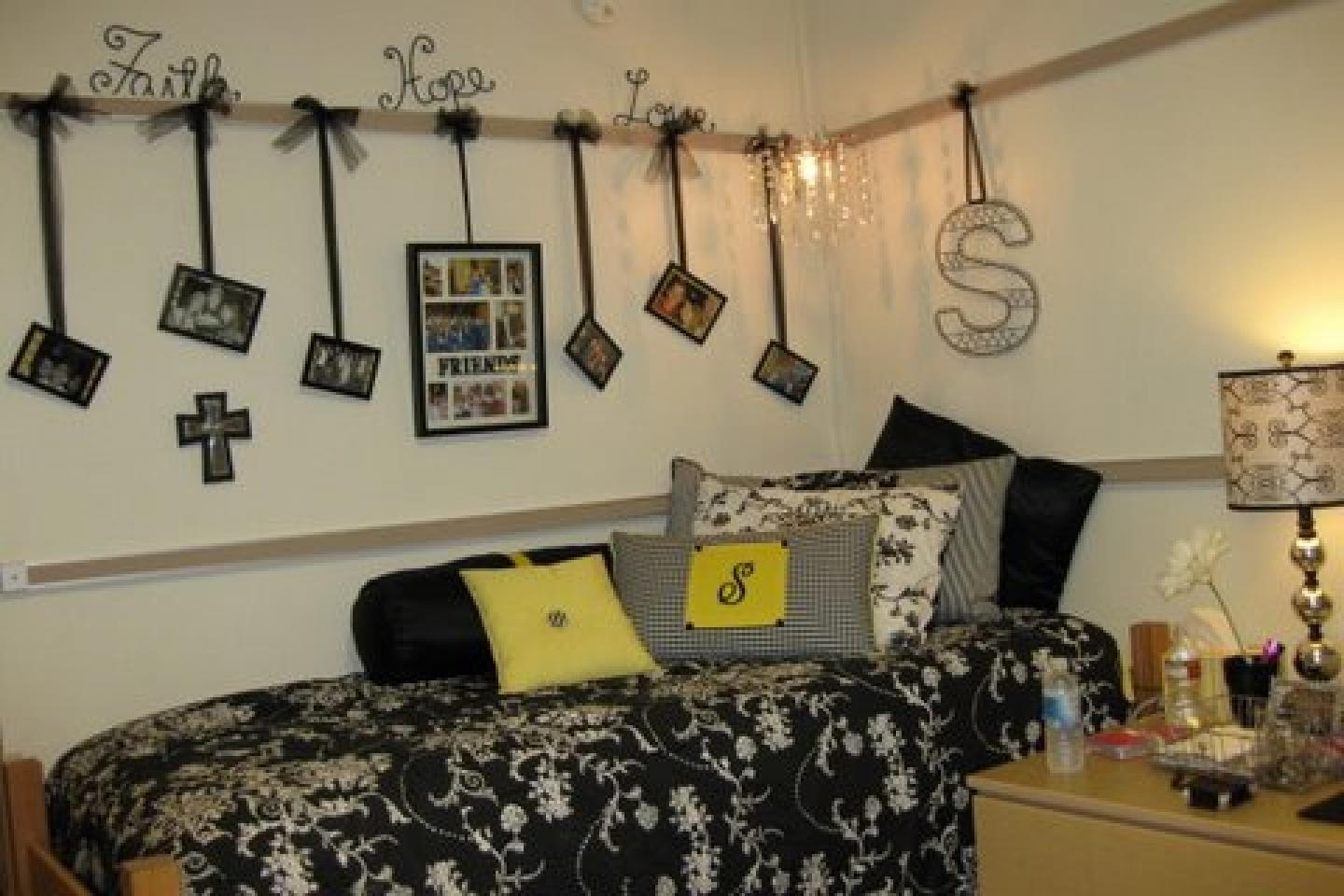 Dorm Decorating Ideas Also With A Cute College Room Ideas Also With Regard To College Dorm Wall Art (Image 15 of 20)