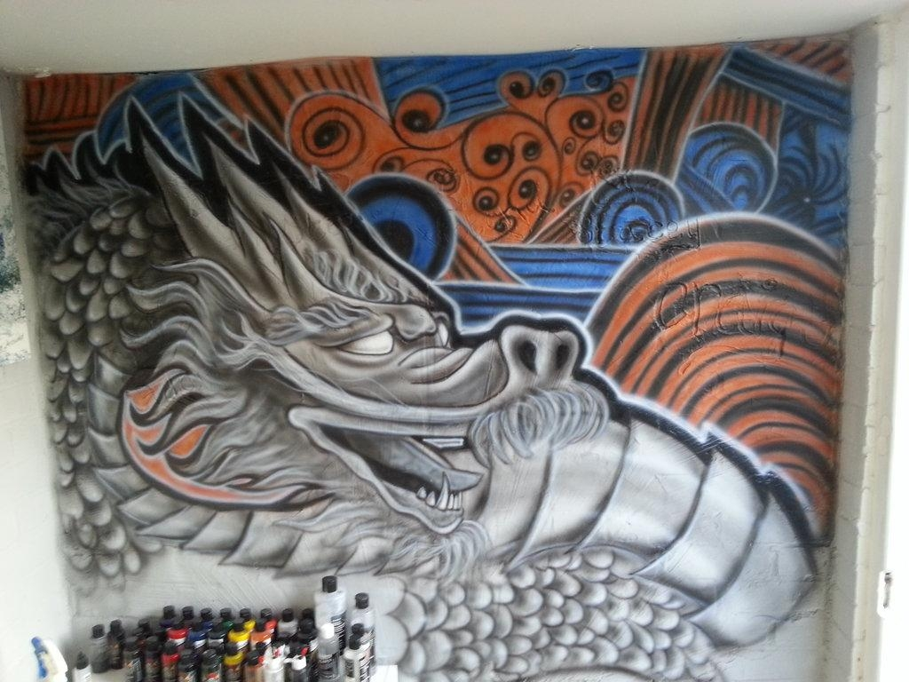 Dragon Airbrush Wall Artox4Dboy87 On Deviantart With Regard To Airbrush Wall Art (Image 9 of 20)