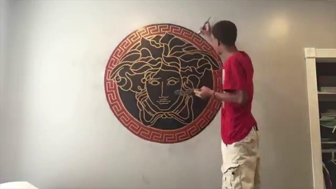 Drawing Of Versace Logo (Time Lapse) – Youtube Pertaining To Versace Wall Art (Image 8 of 20)