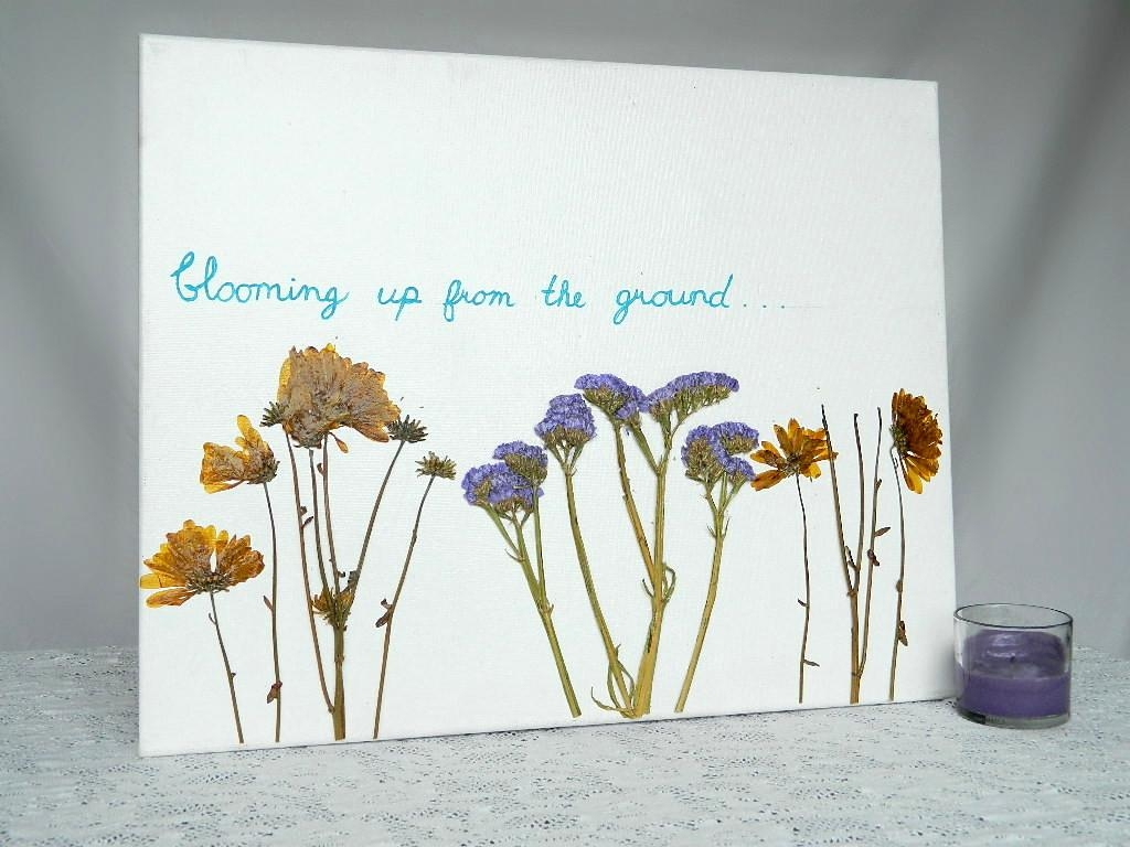 Dried Flower Canvas Wall Art Regarding Floral & Plant Wall Art (Image 8 of 20)