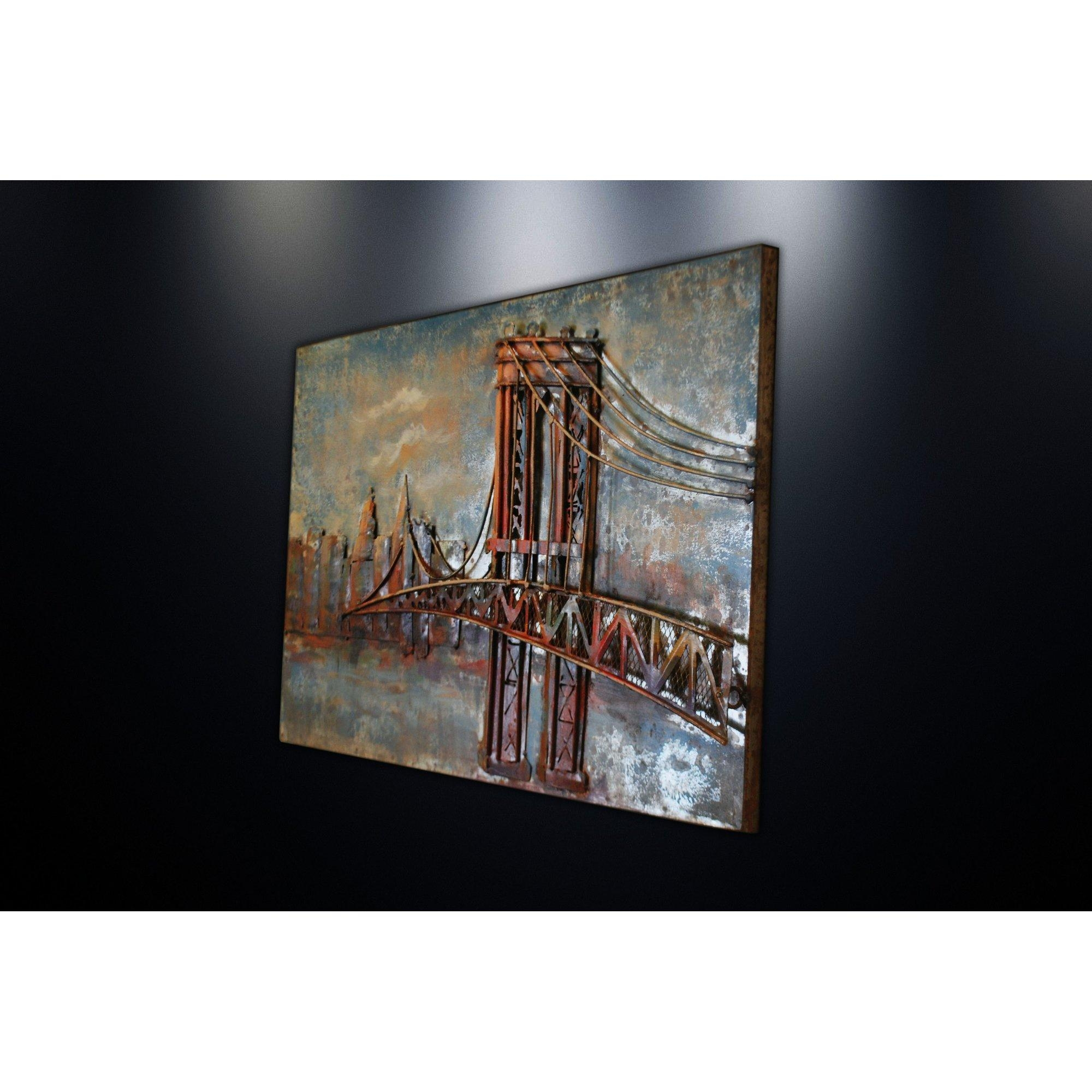 Dsd Group Metal Wall Art Sculpture Home Decor 'brooklyn Bridge For Brooklyn Bridge Metal Wall Art (Image 5 of 20)