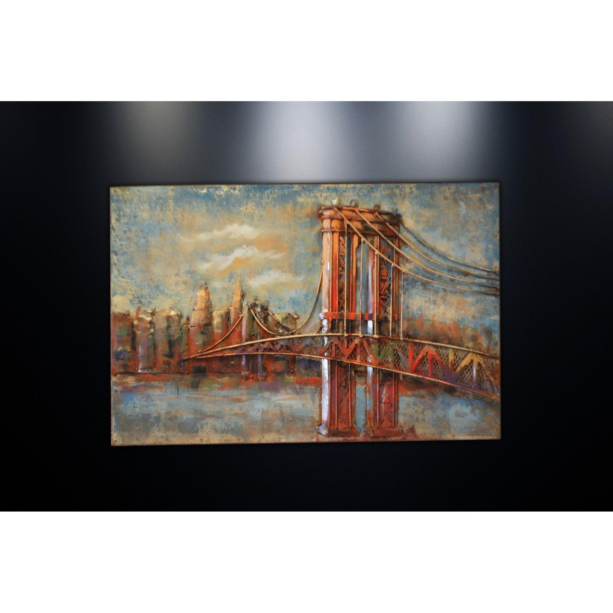 Featured Image of Brooklyn Bridge Metal Wall Art