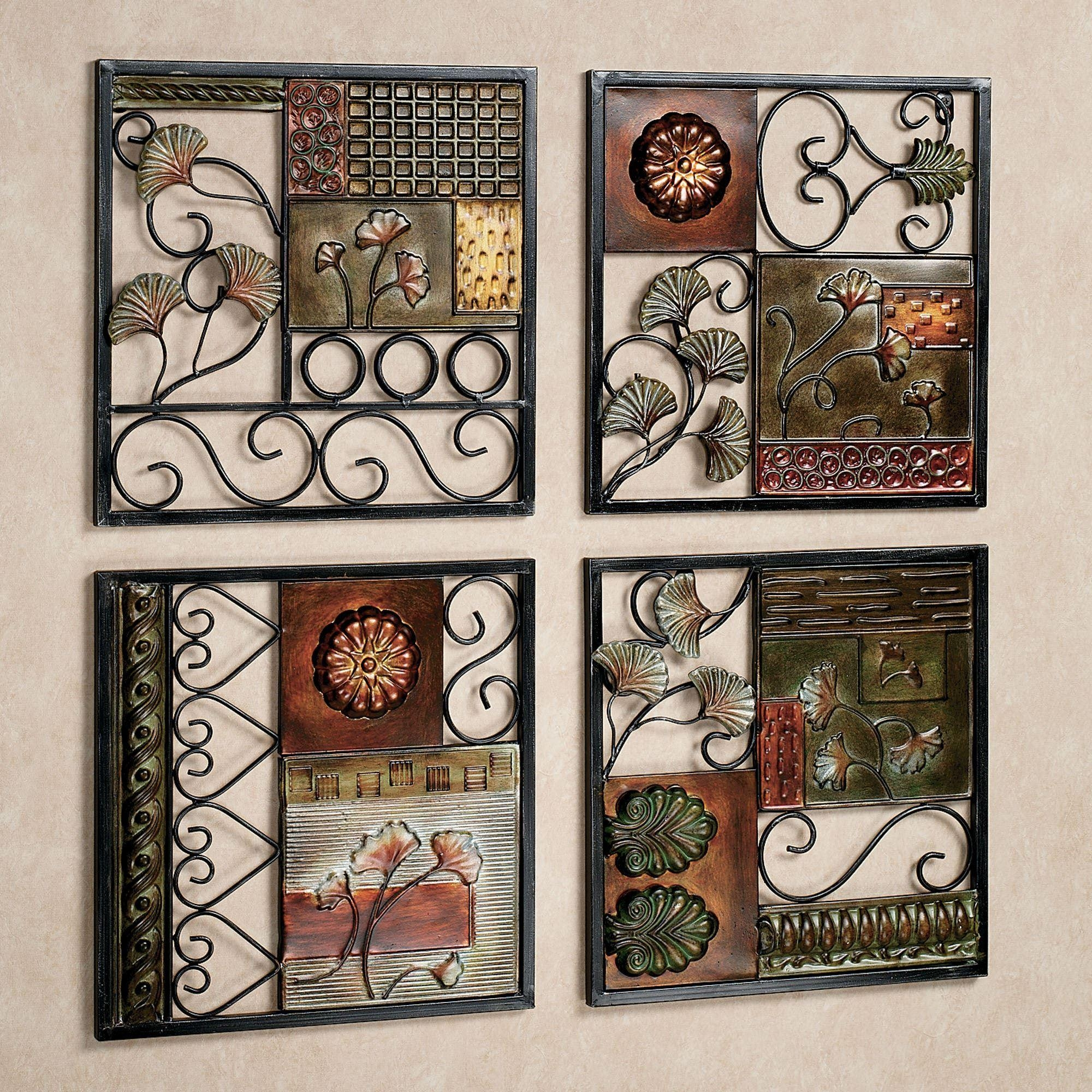 Dusk And Dawn Metal Wall Art Set With Kitchen Wall Art Sets (Image 1 of 20)