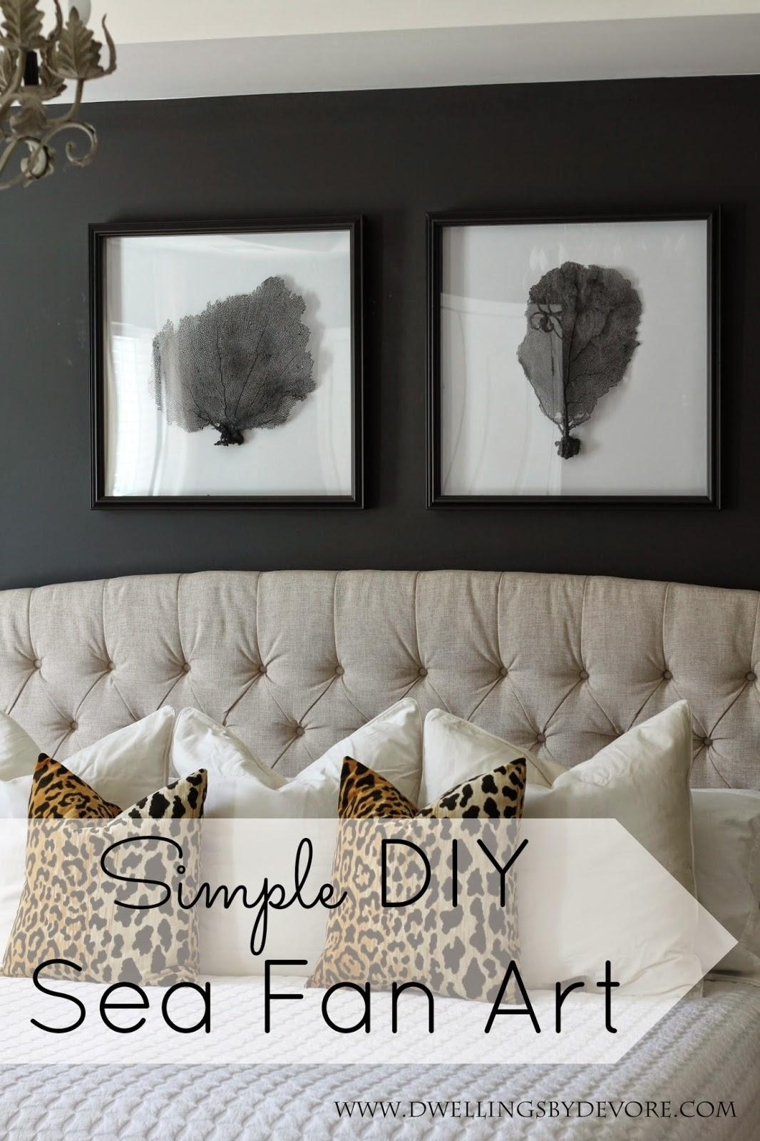 Dwellingsdevore: Diy Sea Fan Art With Regard To Sea Fan Wall Art (Image 9 of 20)