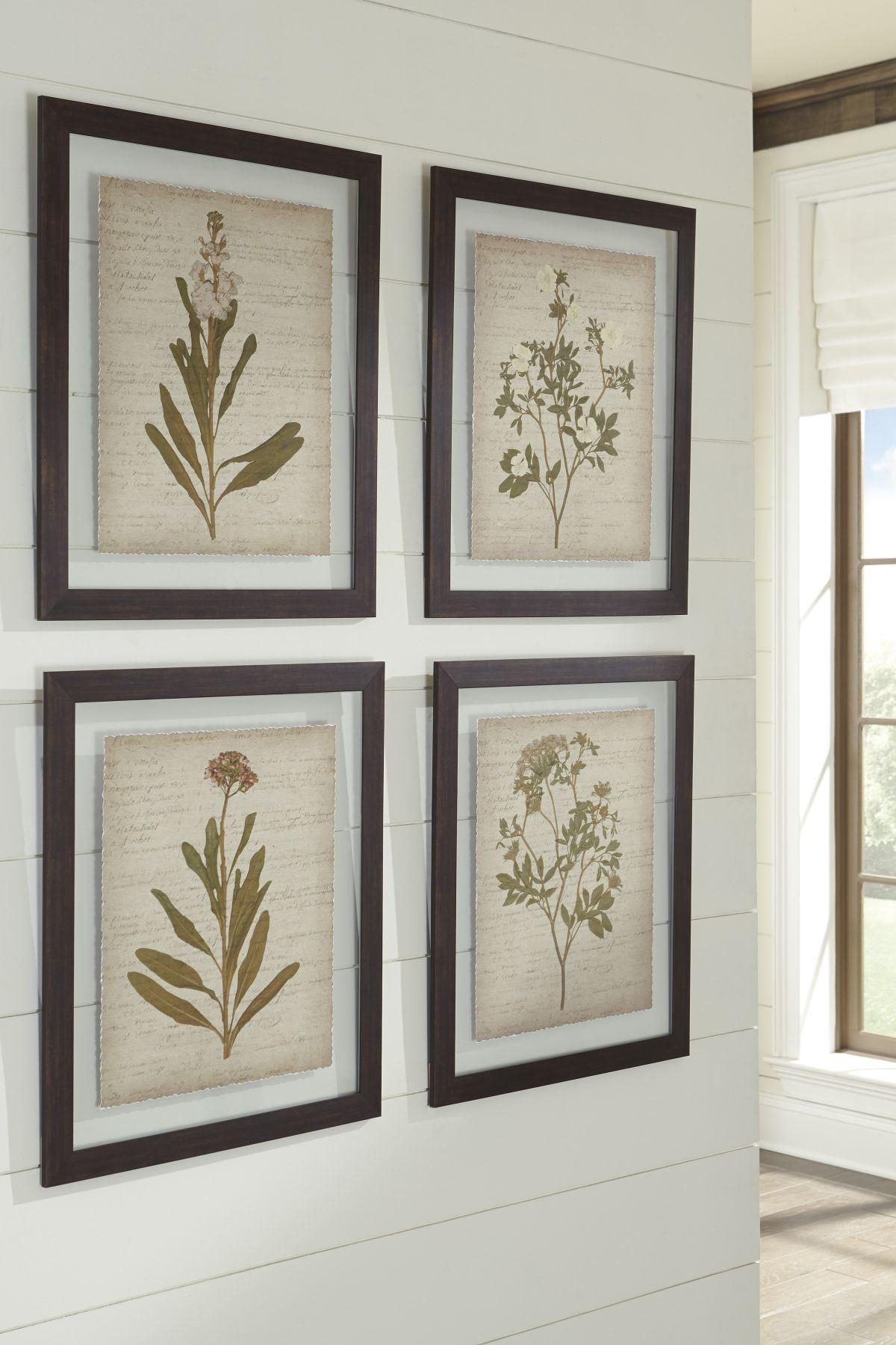 Dyani 4 Piece Wall Art Set Intended For 4 Piece Wall Art Sets (Image 8 of 20)