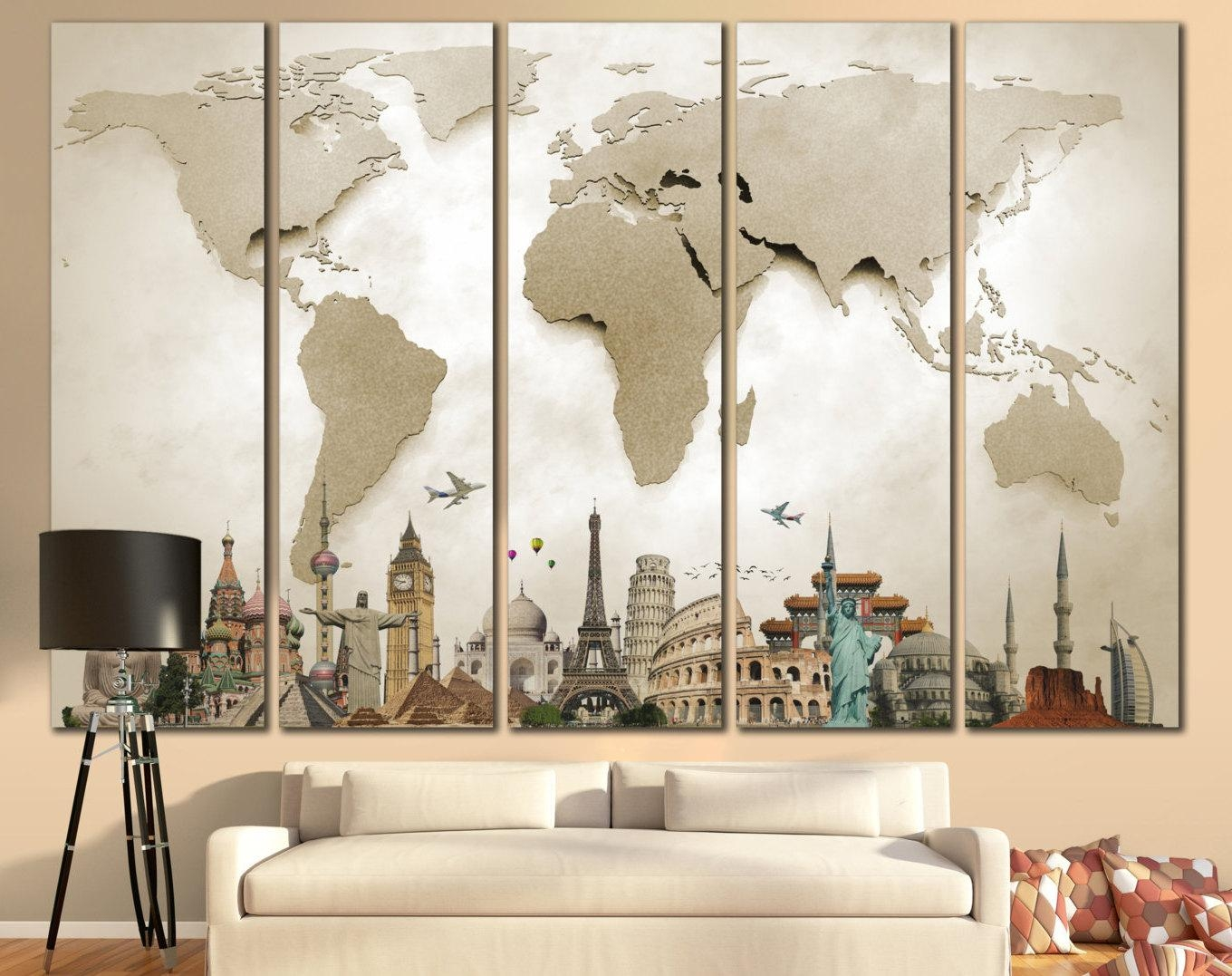 ▻ Amiable Figure Cheap Decorating Ideas For Living Room Walls Pertaining To Cheap Big Wall Art (Image 1 of 20)
