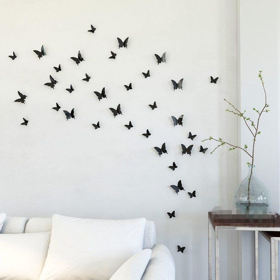 ▻ Decor : 94 Butterfly Wall Decor Patterns B00Kdejefu Amazon Com Within Butterflies Wall Art Stickers (Image 1 of 20)