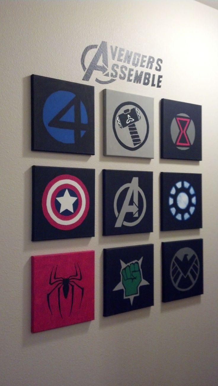 ☆▻ Decoration : Marvel Boys Bedroom Amazing Marvel Kids Room Regarding Superhero Wall Art For Kids (Image 1 of 20)