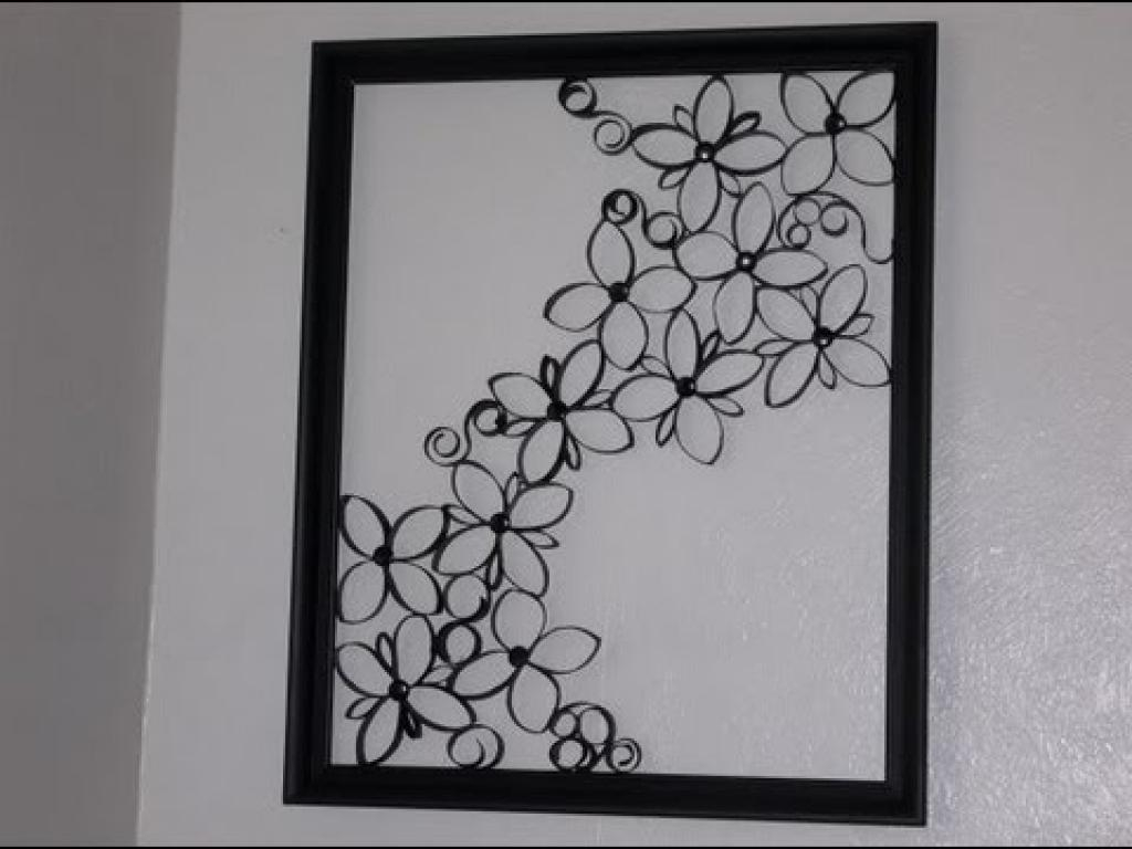 Easy Diy Iron Wall Art! Faux Wrought Iron Wall Decor Wonderfull Inside Faux Wrought Iron Wall Decors (Image 5 of 20)