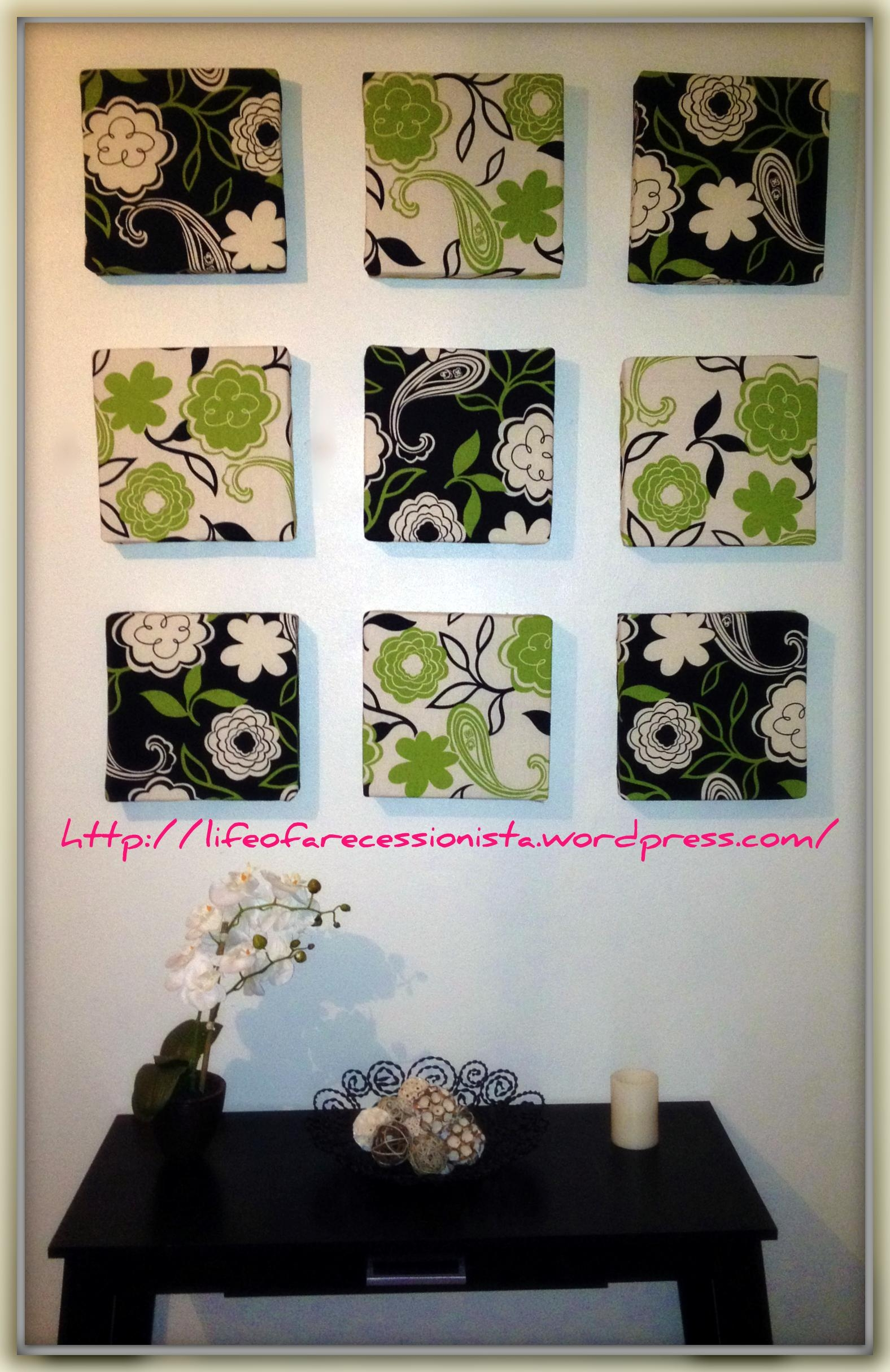 Easy Diy Wall Art | Life Of A Recessionista Pertaining To Pinterest Diy Wall Art (Image 15 of 20)
