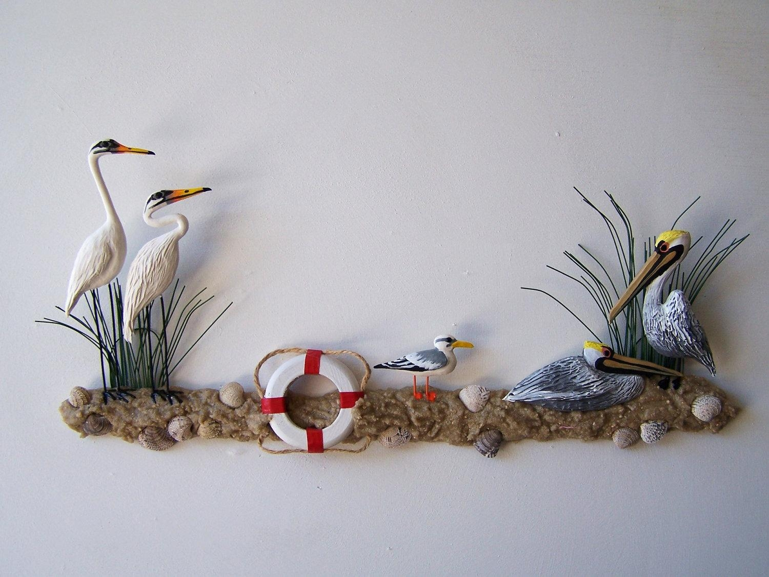Easy Nautical Wall Decor For Your To Practice | The Latest Home Inside Metal Wall Art For Bathroom (Image 7 of 20)