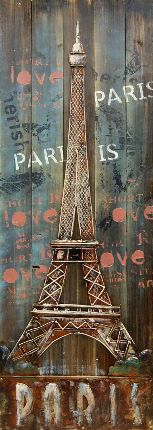 Eiffel Tower 3D Metal Wall Art With Eiffel Tower Metal Wall Art (View 3 of 20)