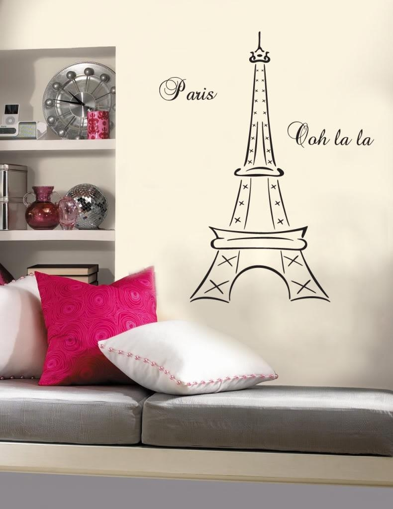 Eiffel Tower Bedroom Decor French Inspired Quirky Cool Parisian For Paris Theme Wall Art (View 16 of 20)