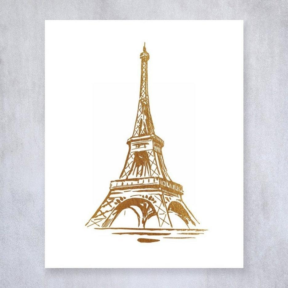 Eiffel Tower Centerpieces Cheap Paris Inspired Bedroom Canvas Pertaining To Paris Theme Wall Art (View 11 of 20)