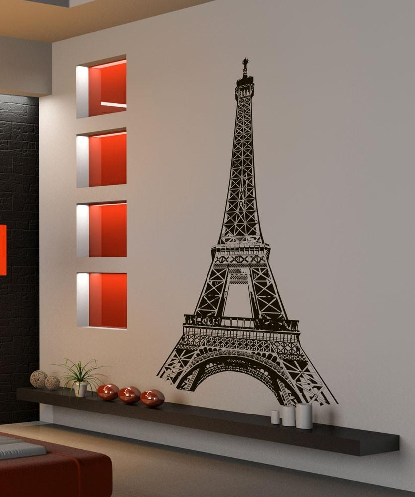 Eiffel Tower Decal New Picture Eiffel Tower Wall Decal – Home Intended For Eiffel Tower Wall Art (Image 3 of 20)