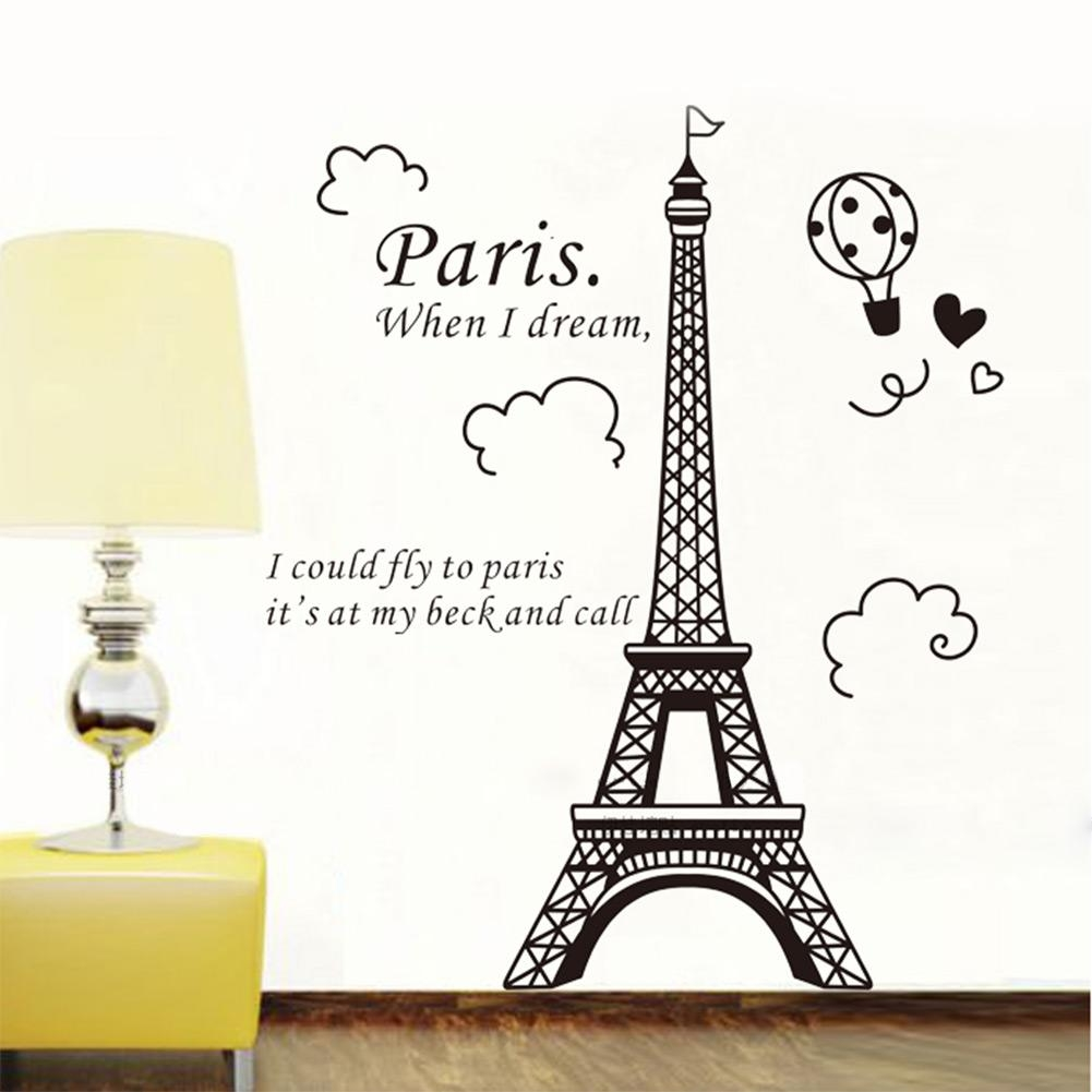 Eiffel Tower Decal New Picture Eiffel Tower Wall Decal – Home With Regard To Eiffel Tower Wall Hanging Art (View 4 of 20)