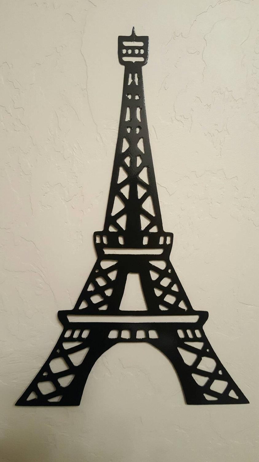 Eiffel Tower Metal Wall Art/paris Decor/metal Wall With Regard To Eiffel Tower Metal Wall Art (View 2 of 20)