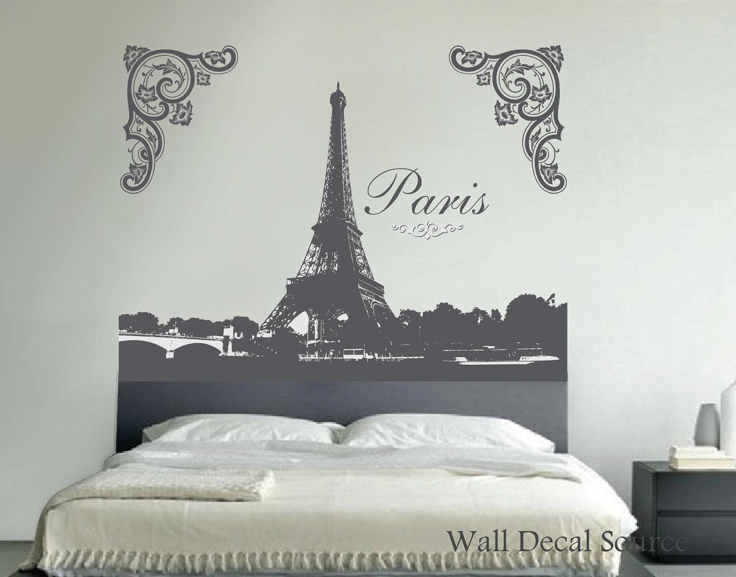 Eiffel Tower Wall Art | Roselawnlutheran Throughout Paris Vinyl Wall Art (View 6 of 20)
