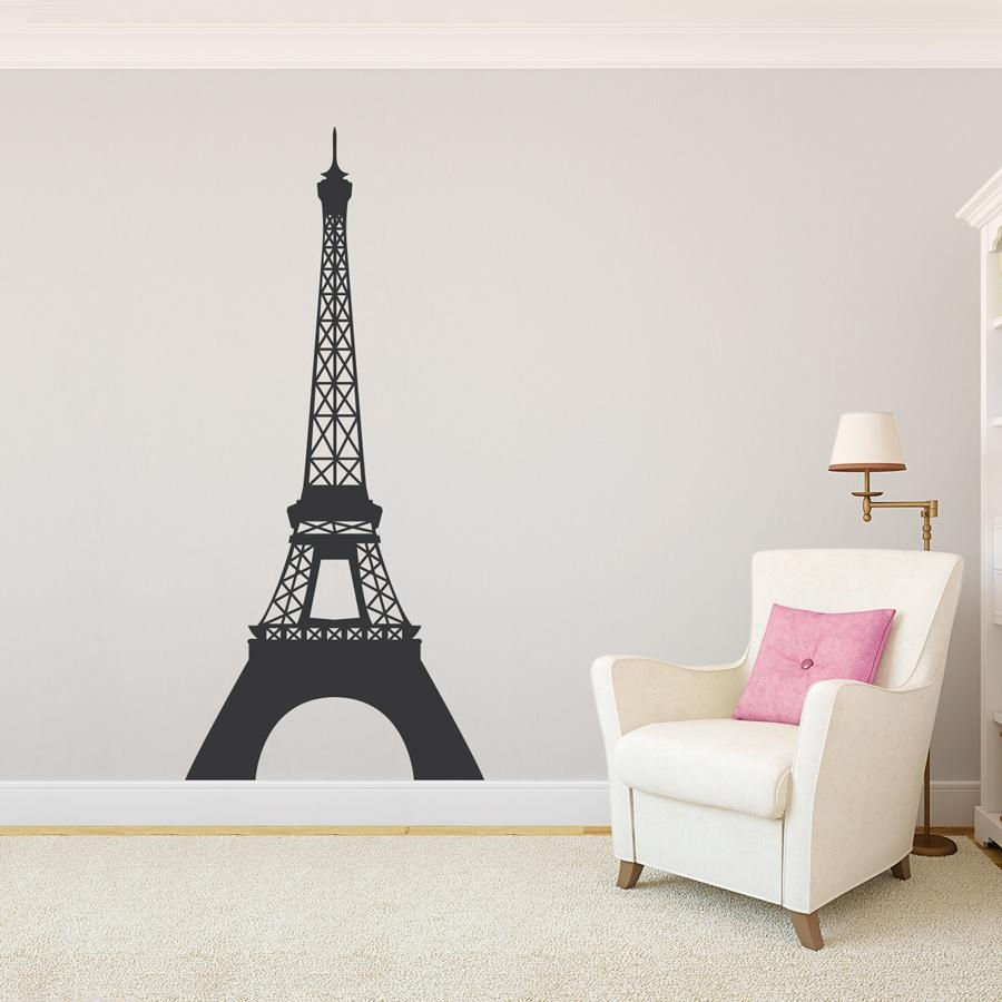 Eiffel Tower Wall Decal Sticker Throughout Eiffel Tower Wall Art (Image 6 of 20)