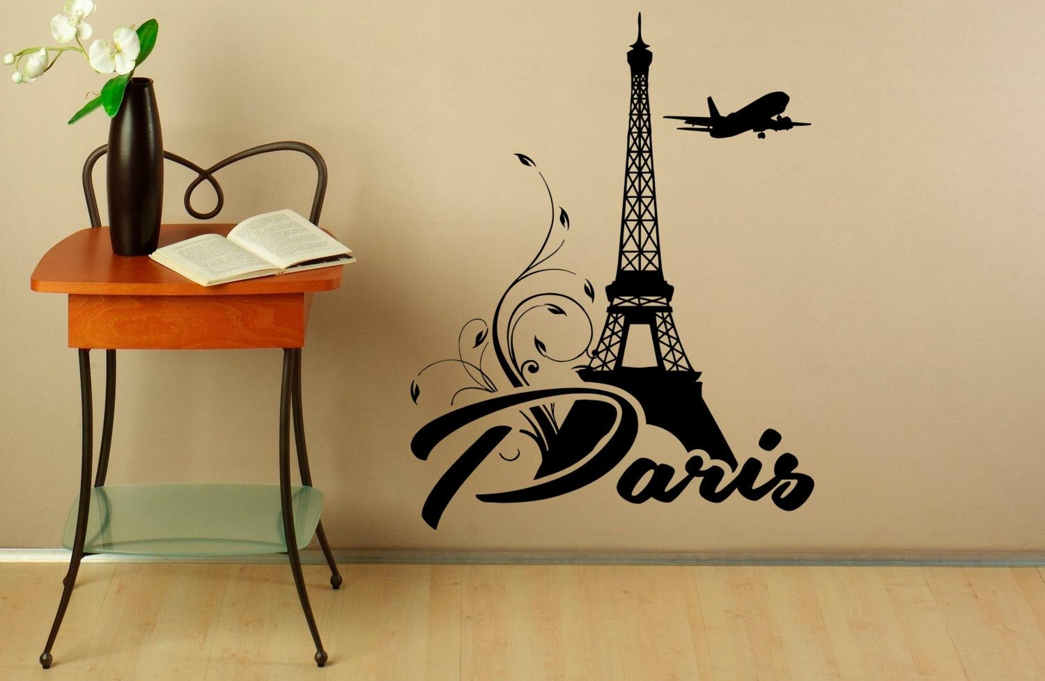 Eiffel Tower Wall Decal Vinyl Stickers Paris Symbol Home Within Eiffel Tower Wall Hanging Art (Image 9 of 20)
