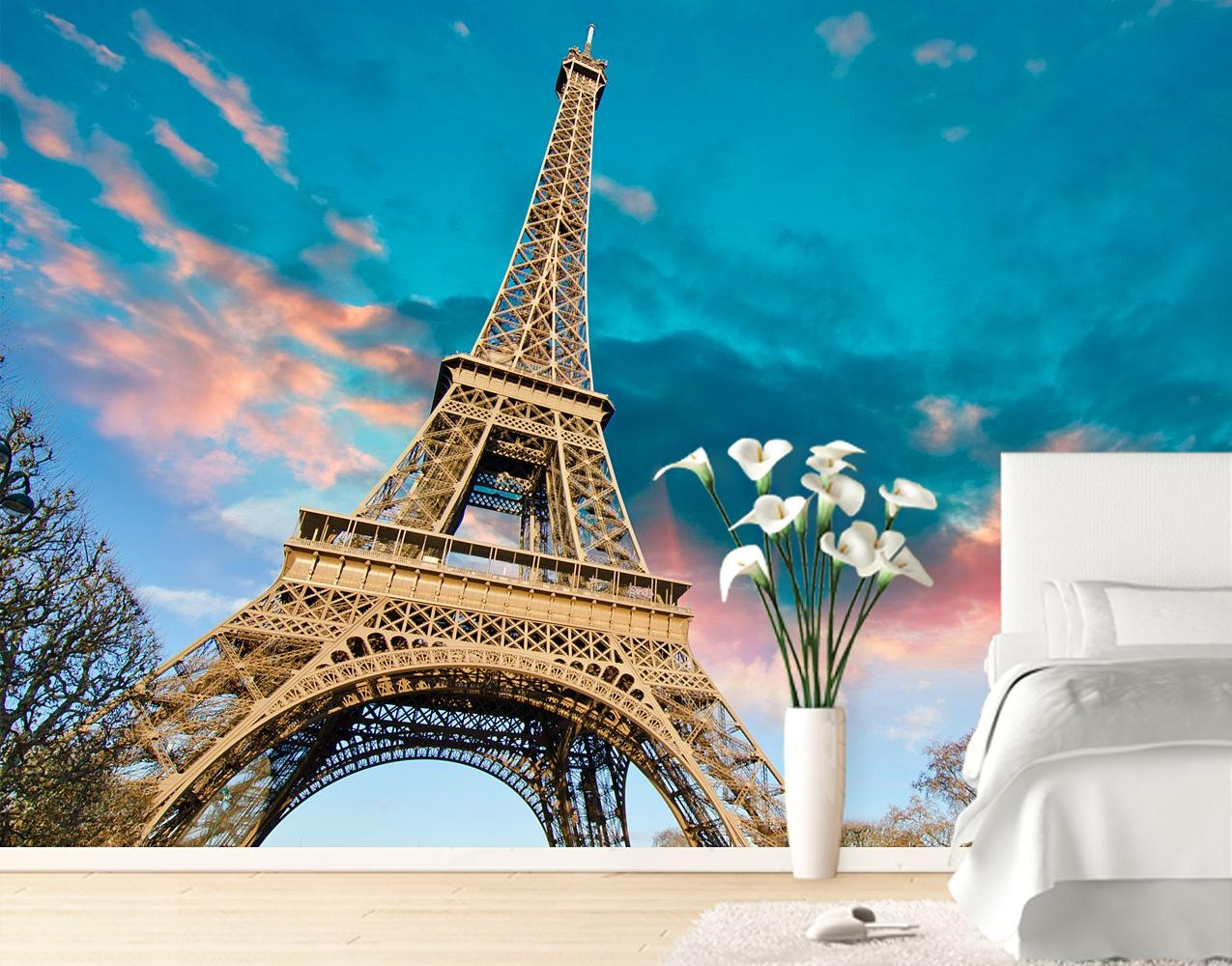 Eiffel Tower Wall Mural – Your Decal Shop | Nz Designer Wall Art In Eiffel Tower Wall Art (Image 7 of 20)
