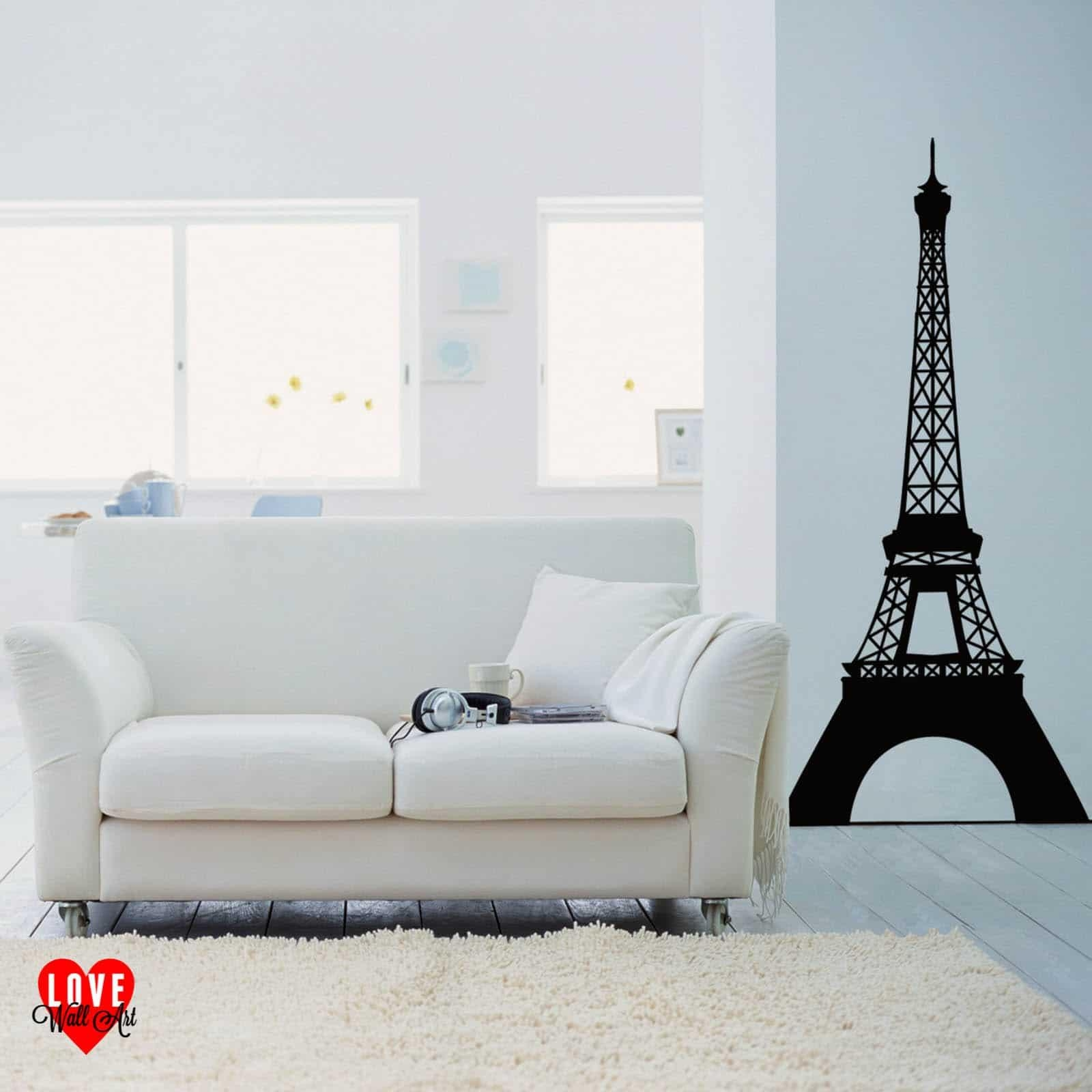 Eiffel Tower Wall Sticker Wall Art Design Paris France Pertaining To Eiffel Tower Wall Art (Image 8 of 20)