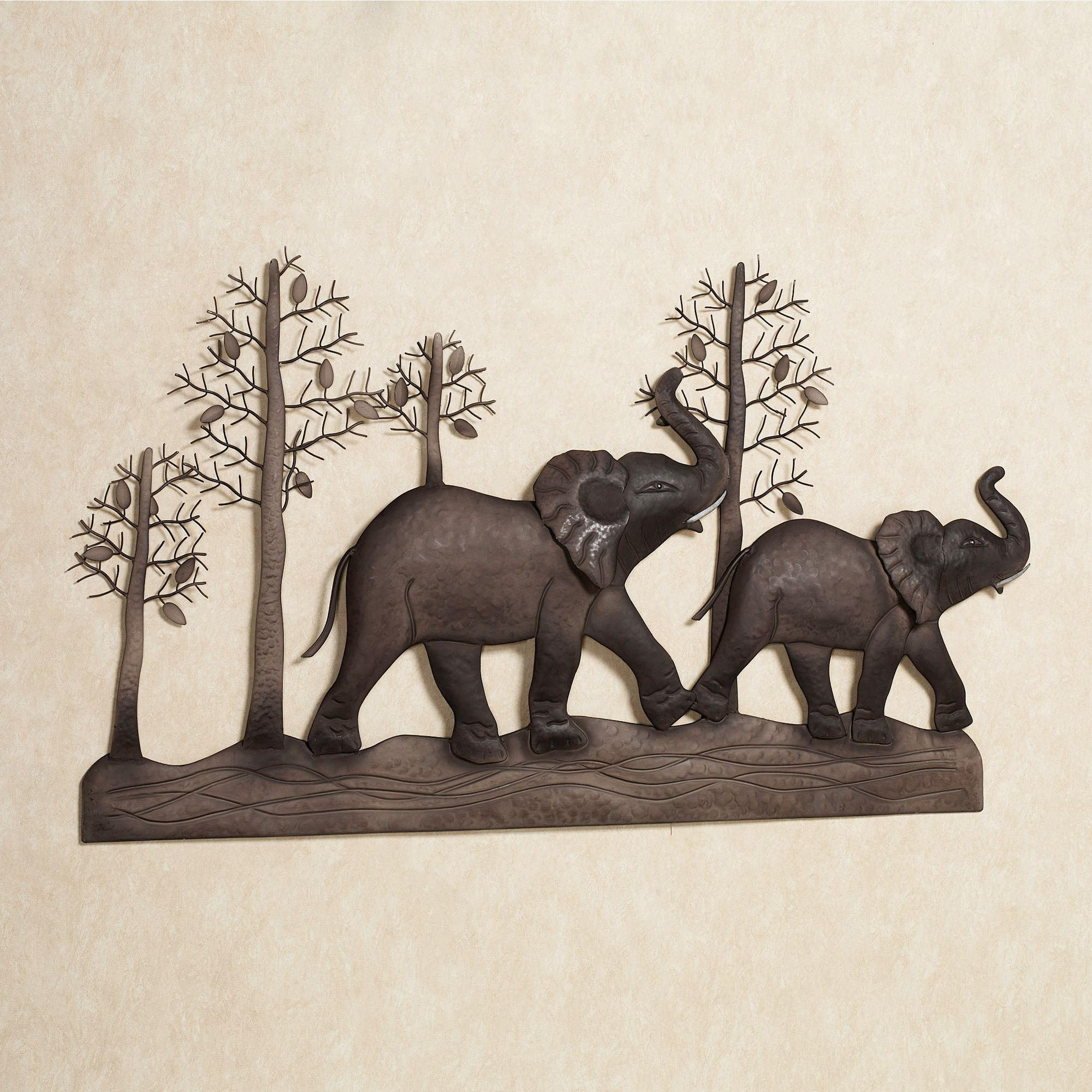 Elephant Metal Wall Art Within African Metal Wall Art (Image 7 of 20)