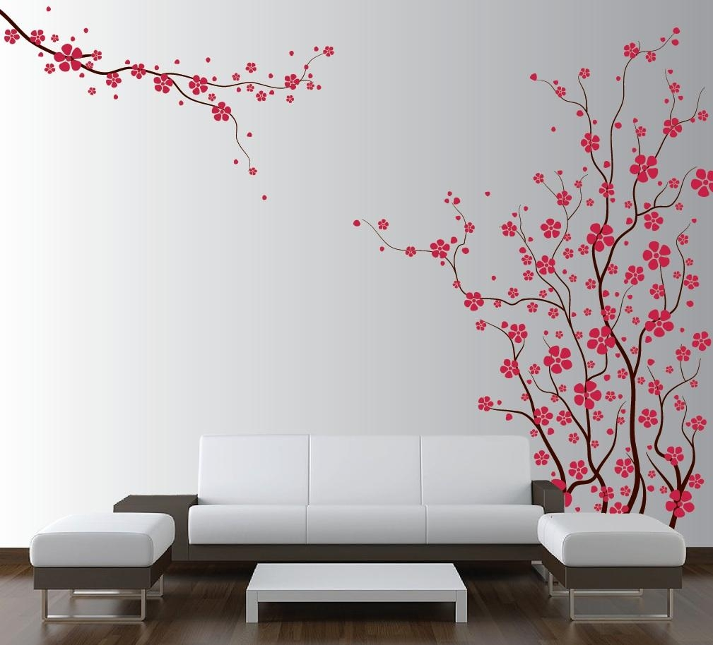 Eletragesi: Cherry Blossom Stencil Images Inside Red Cherry Blossom Wall Art (View 11 of 20)