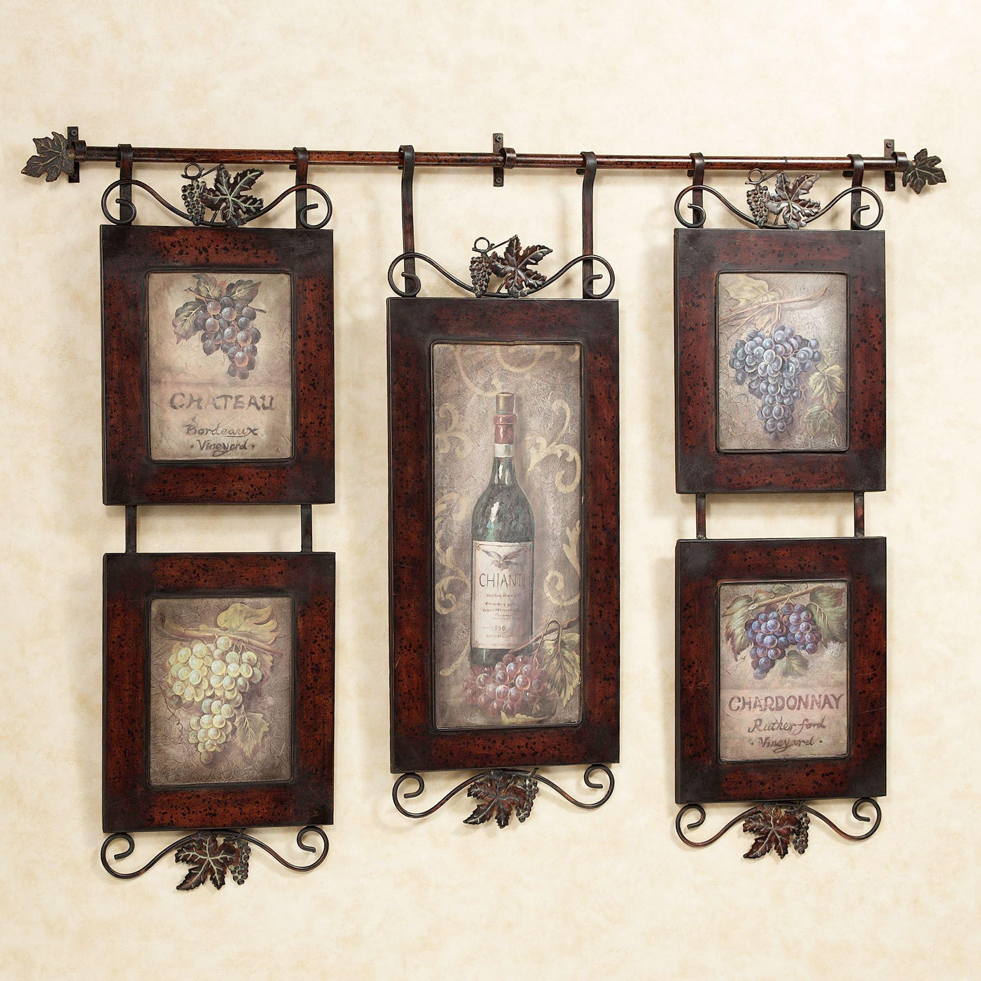 Emilion Wine Wall Art For Metal Framed Wall Art (Image 7 of 20)