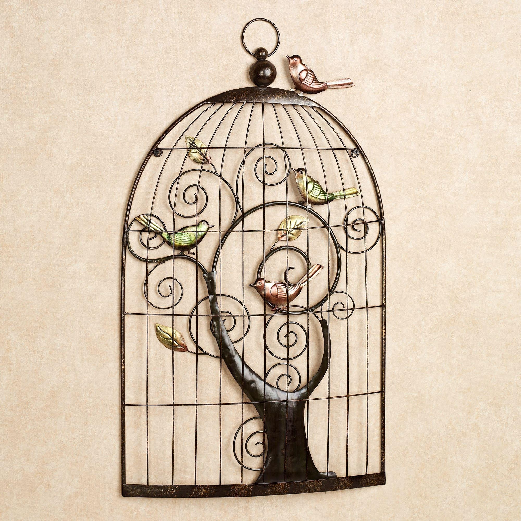 Featured Image of Metal Birdcage Wall Art