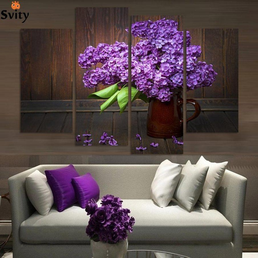 Enchanting Wall Decor Purple Blossoms Flower Metal Purple Lotus In Purple Flower Metal Wall Art (View 14 of 20)