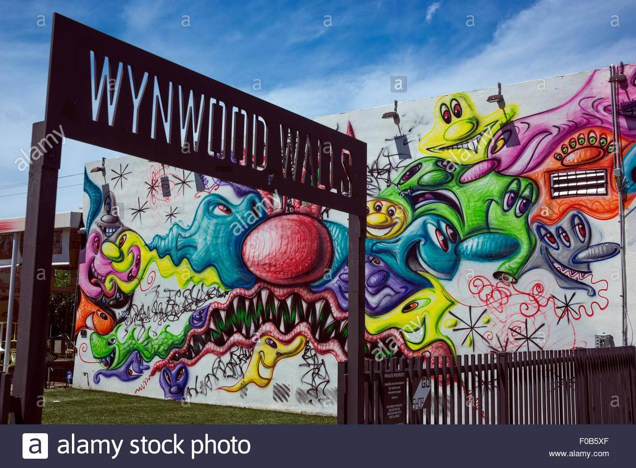 Entrance Sign Wynwood Walls Street Art Center Wynwood Miami Within Miami Wall Art (Image 5 of 20)