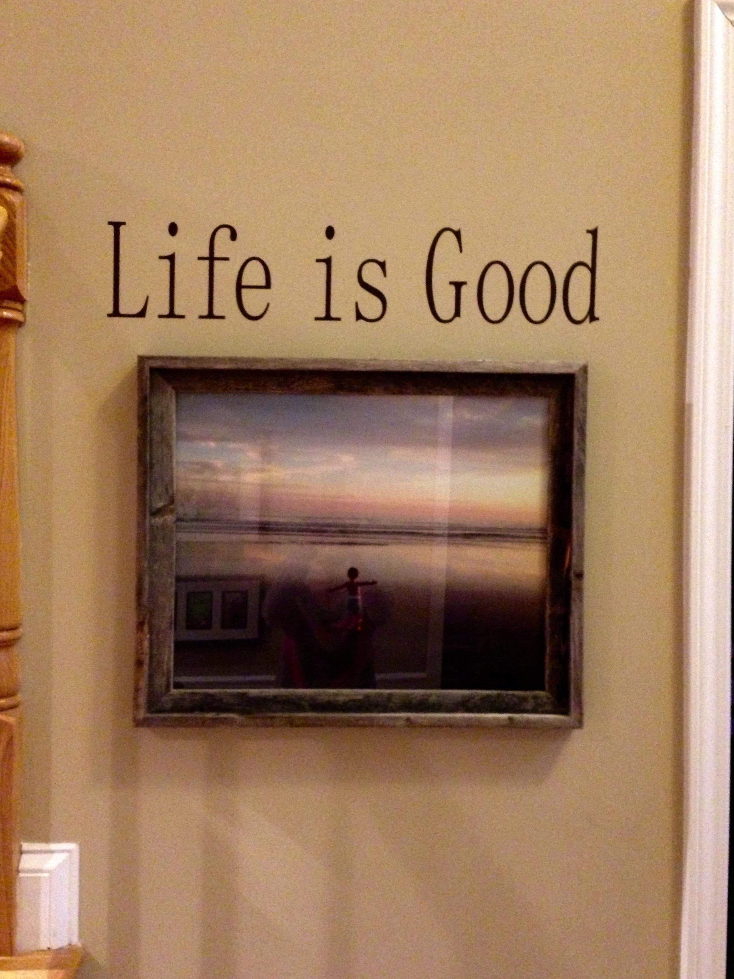 Entry Ways With Wall Lettering And Art – Expressive Walls For Life Is Good Wall Art (View 16 of 20)