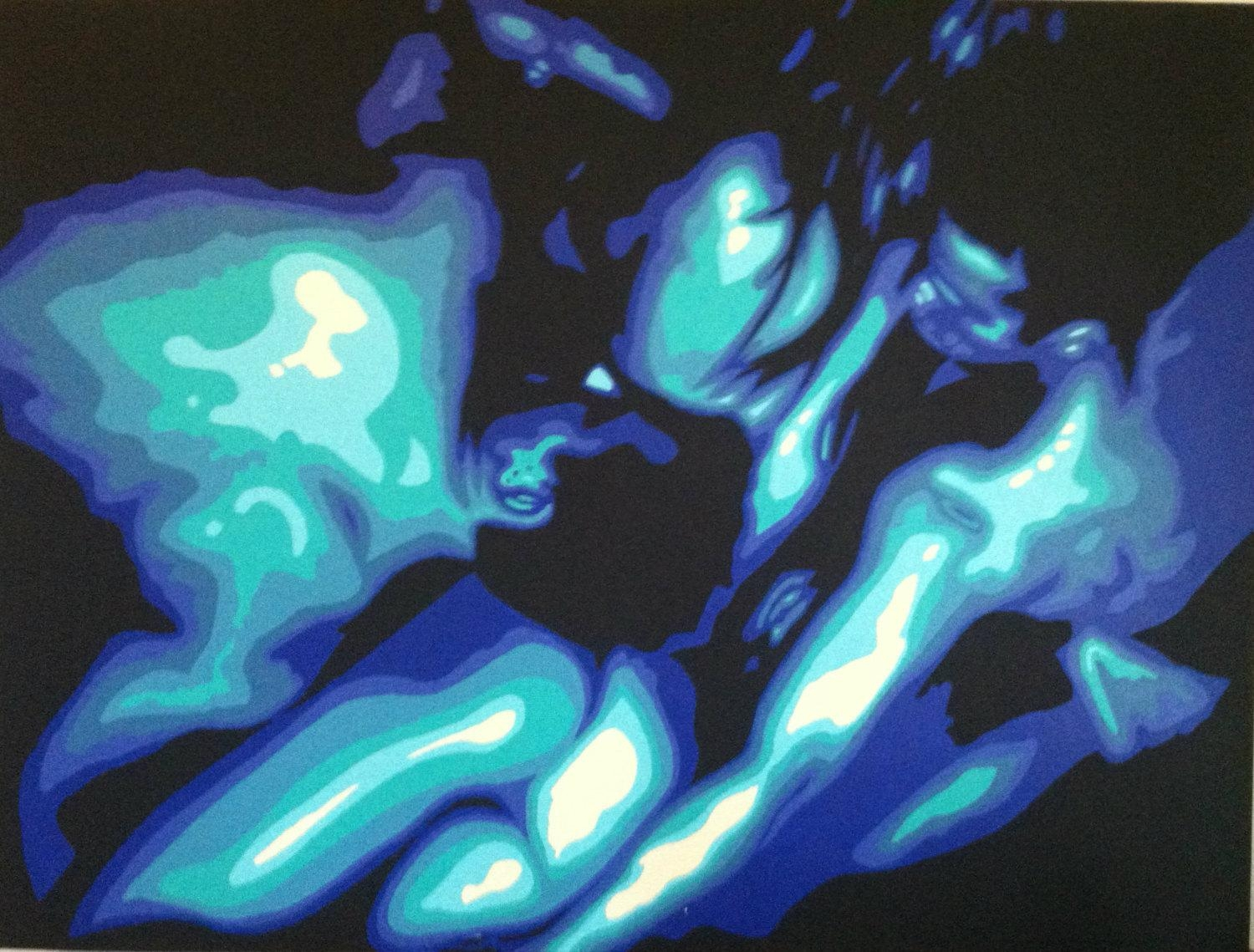 Erotic Couple Painting Sensual Painting Waterfall Art Nude In Sensual Wall Art (View 18 of 20)
