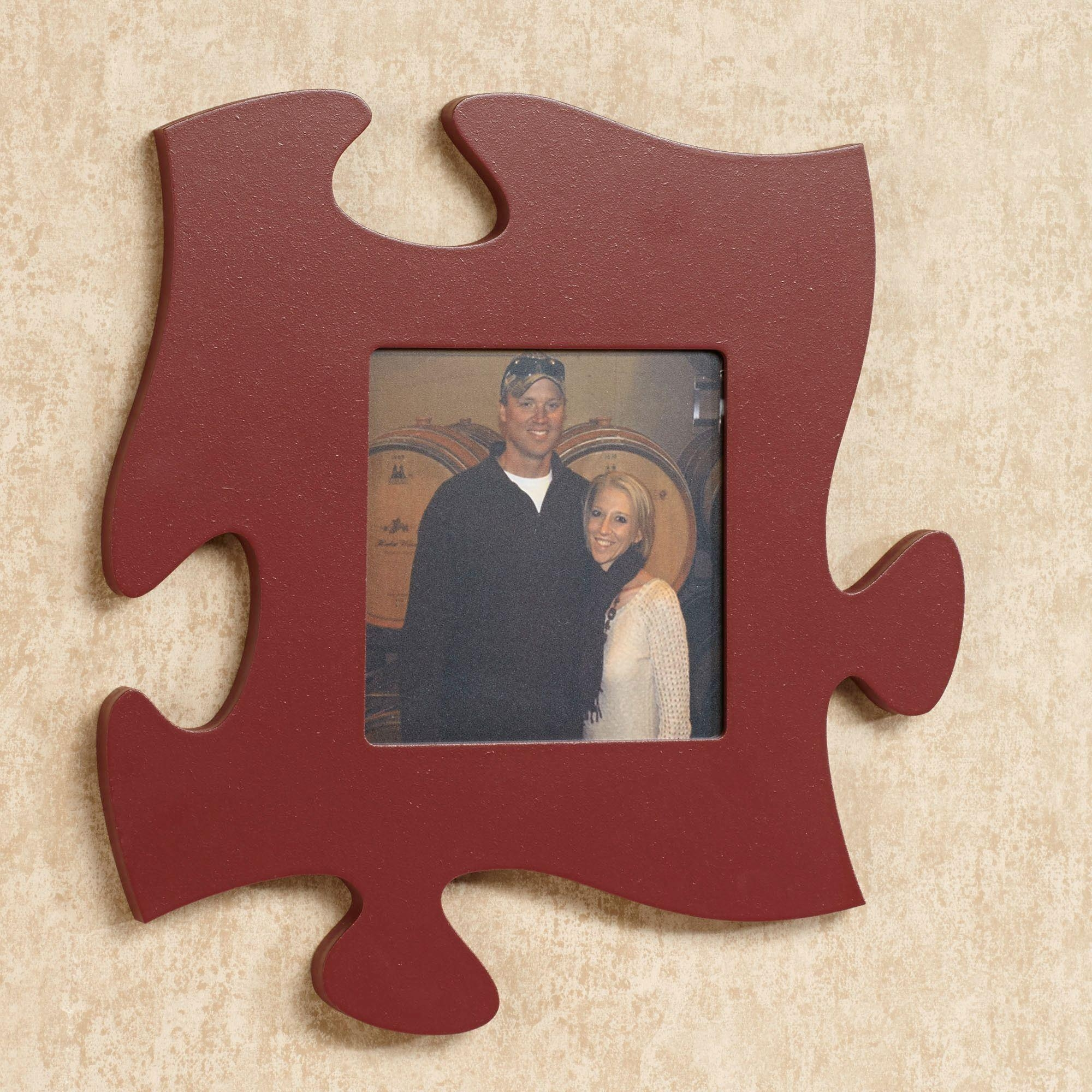 Every Family Photo Frame Puzzle Piece Wall Art With Regard To Burgundy Wall Art (Image 8 of 20)