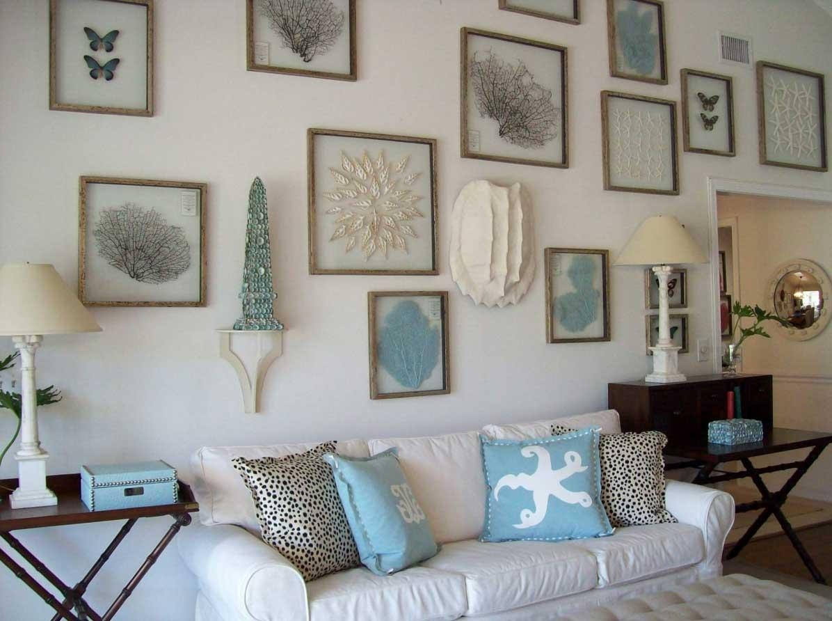 Exceptional Beach House Living Room Design Inspiration Establish For Beach Cottage Wall Art (Image 14 of 20)