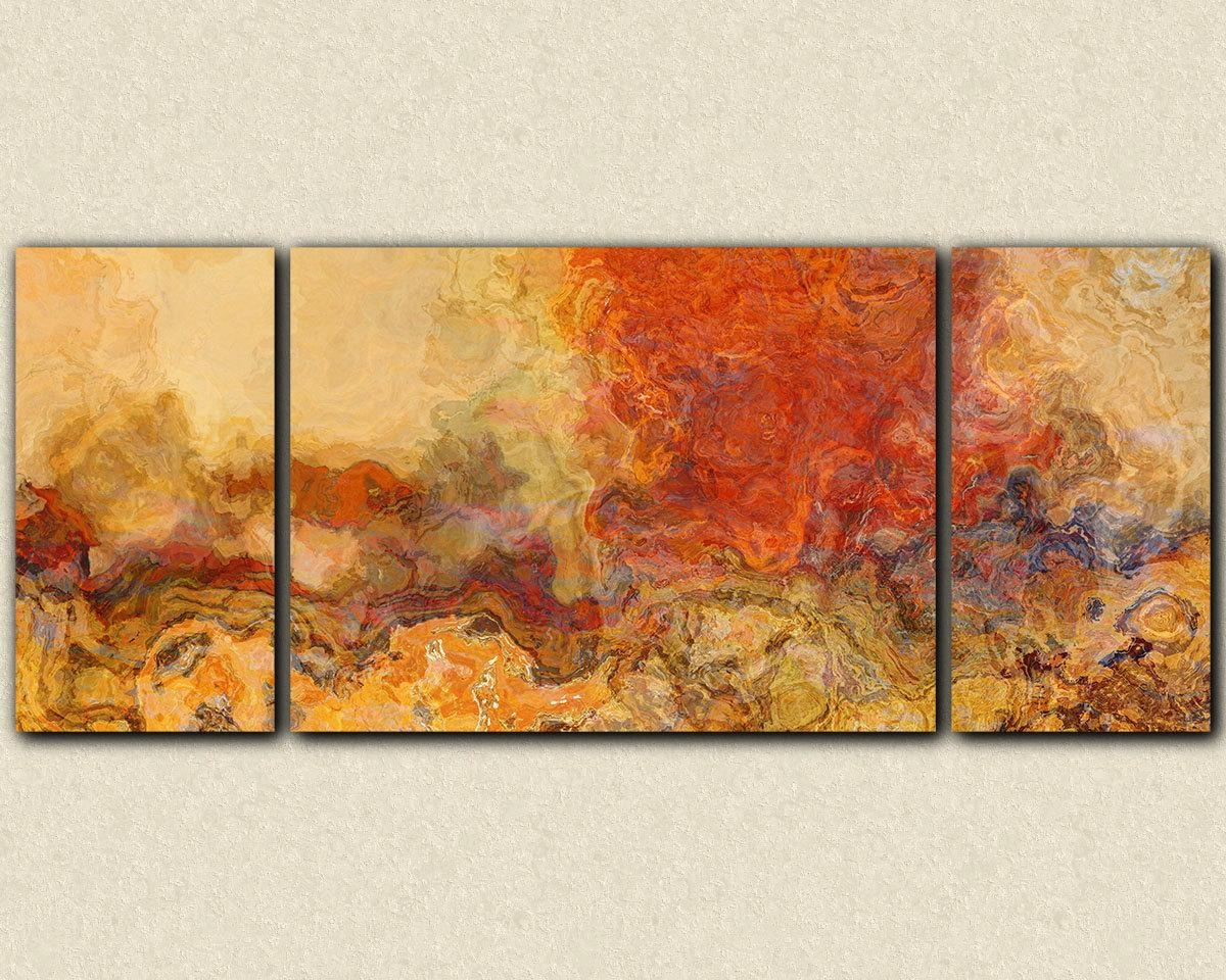 Extra Large Triptych Abstract Art 30X72 To 40X90 Giclee Within Large Triptych Wall Art (Image 2 of 20)