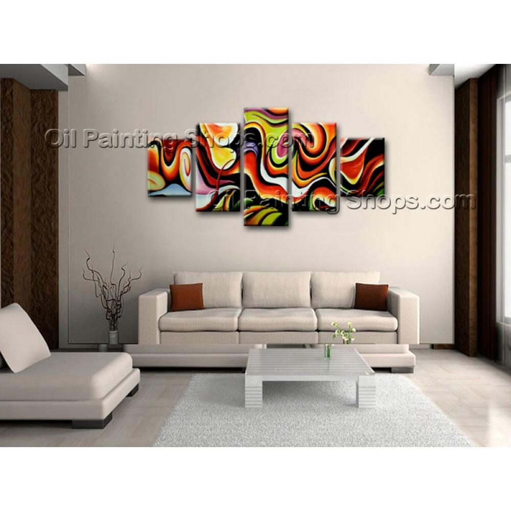 Extra Large Wall Art Colorful Abstract Oil Painting On Canvas In Colorful Abstract Wall Art (Image 10 of 20)