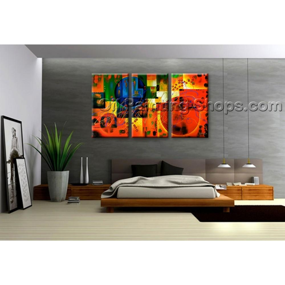 Extra Large Wall Art Colorful Abstract Oil Painting On Canvas Throughout Huge Wall Art (Image 11 of 20)