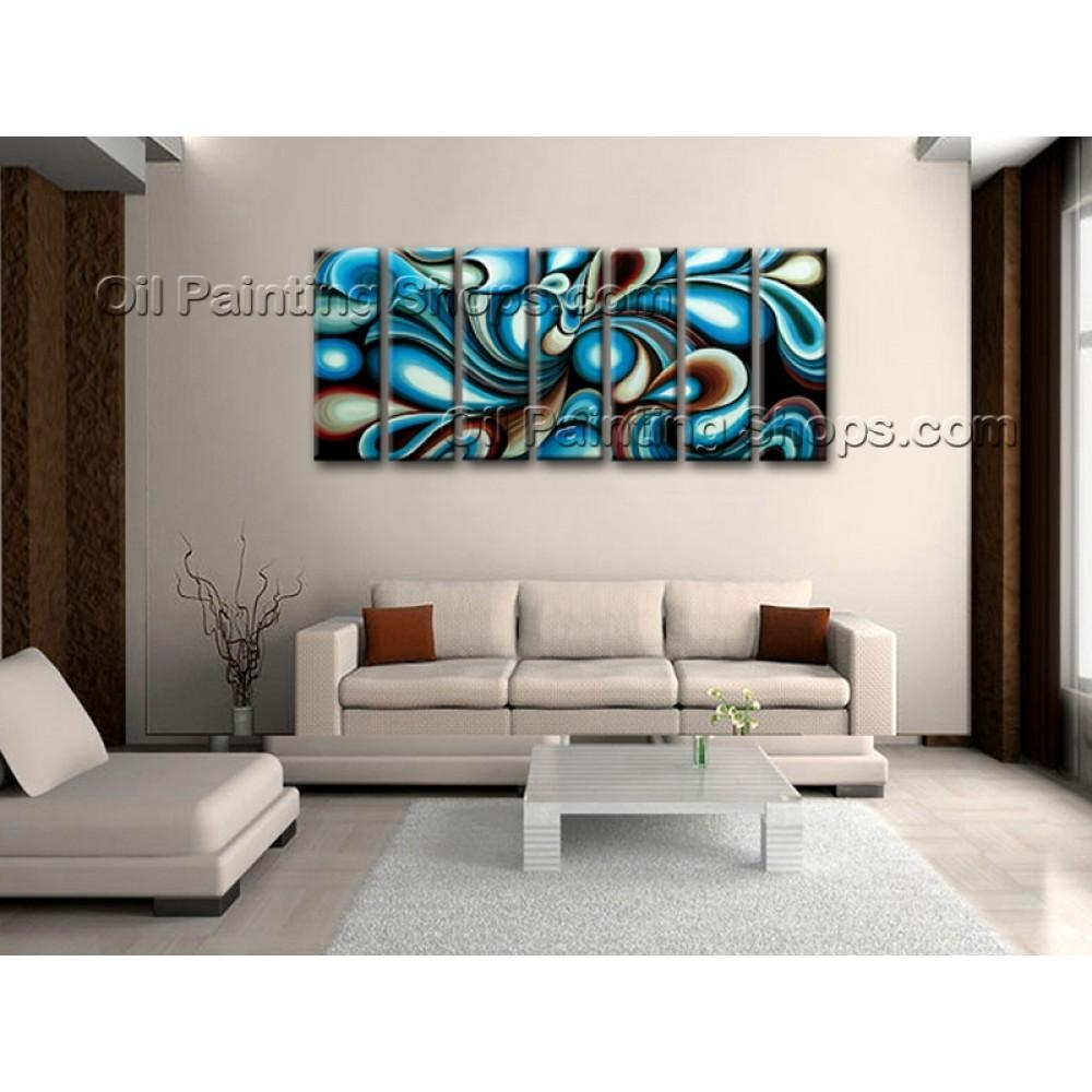 Extra Large Wall Art Colorful Abstract Oil Painting On Canvas With Regard To Extra Large Framed Wall Art (View 7 of 20)