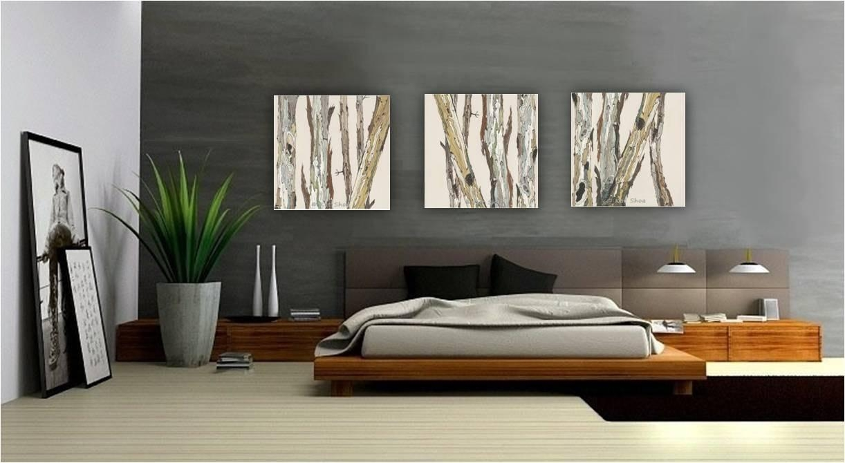 Extra Large Wall Art Oversized Triptych Set Dining Room Inside Large Triptych Wall Art (View 18 of 20)