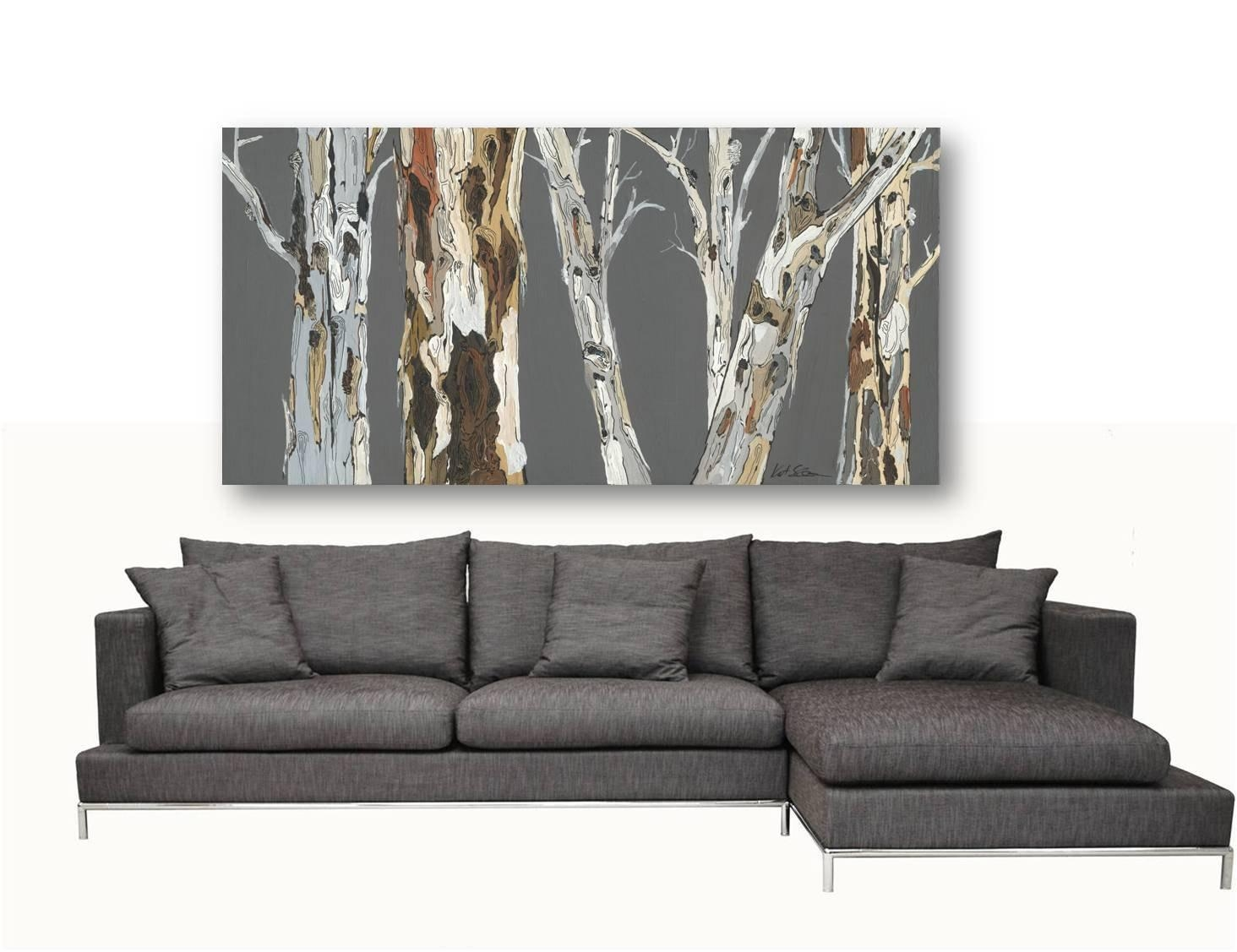 Extra Large Wall Art Print Tree Art Rolled Canvas Pastels Gray Regarding Extra Large Wall Art Prints (View 5 of 20)