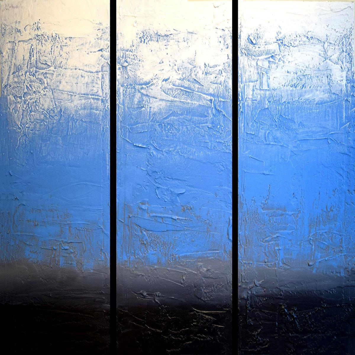 Extra Large Wall Sculpture Art Triptych 3 Panel Wall Art Inside Large Triptych Wall Art (Image 5 of 20)