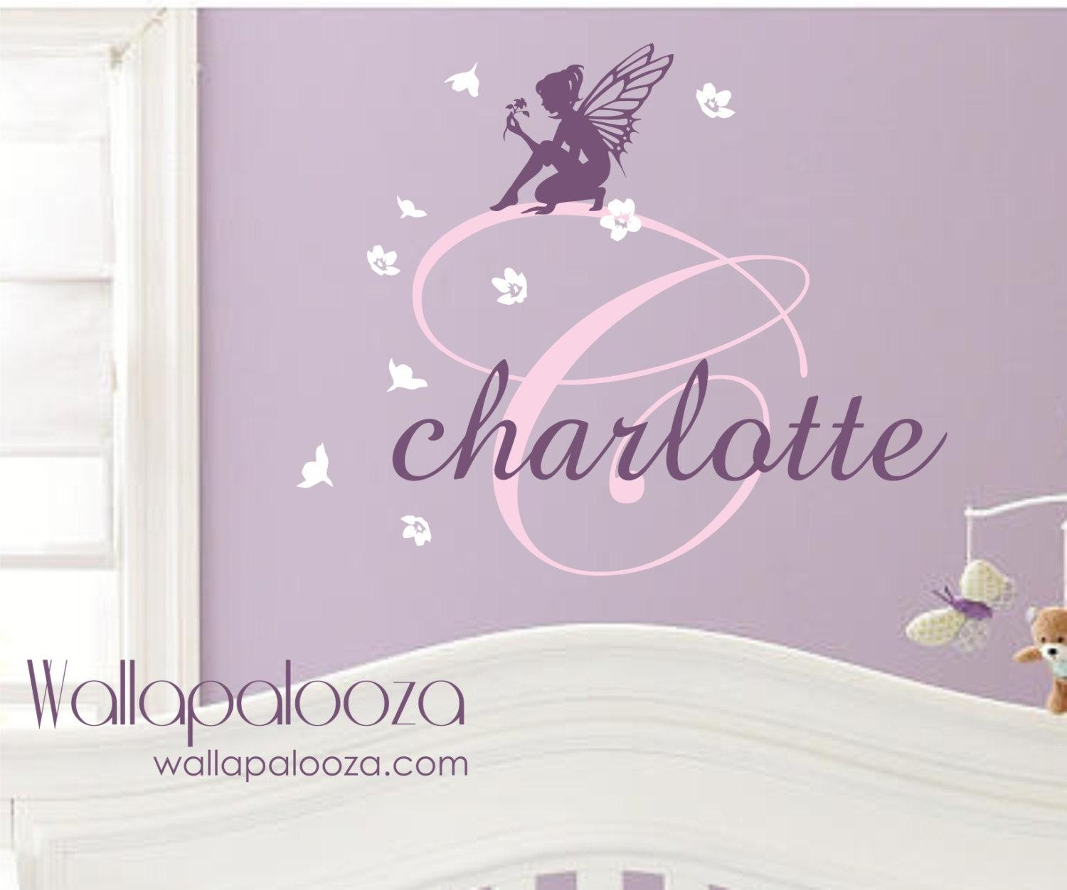 Fairy Wall Decal Girls Wall Decal Fairy Wall Art Fairy Throughout Wall Art For Girls (Image 10 of 20)