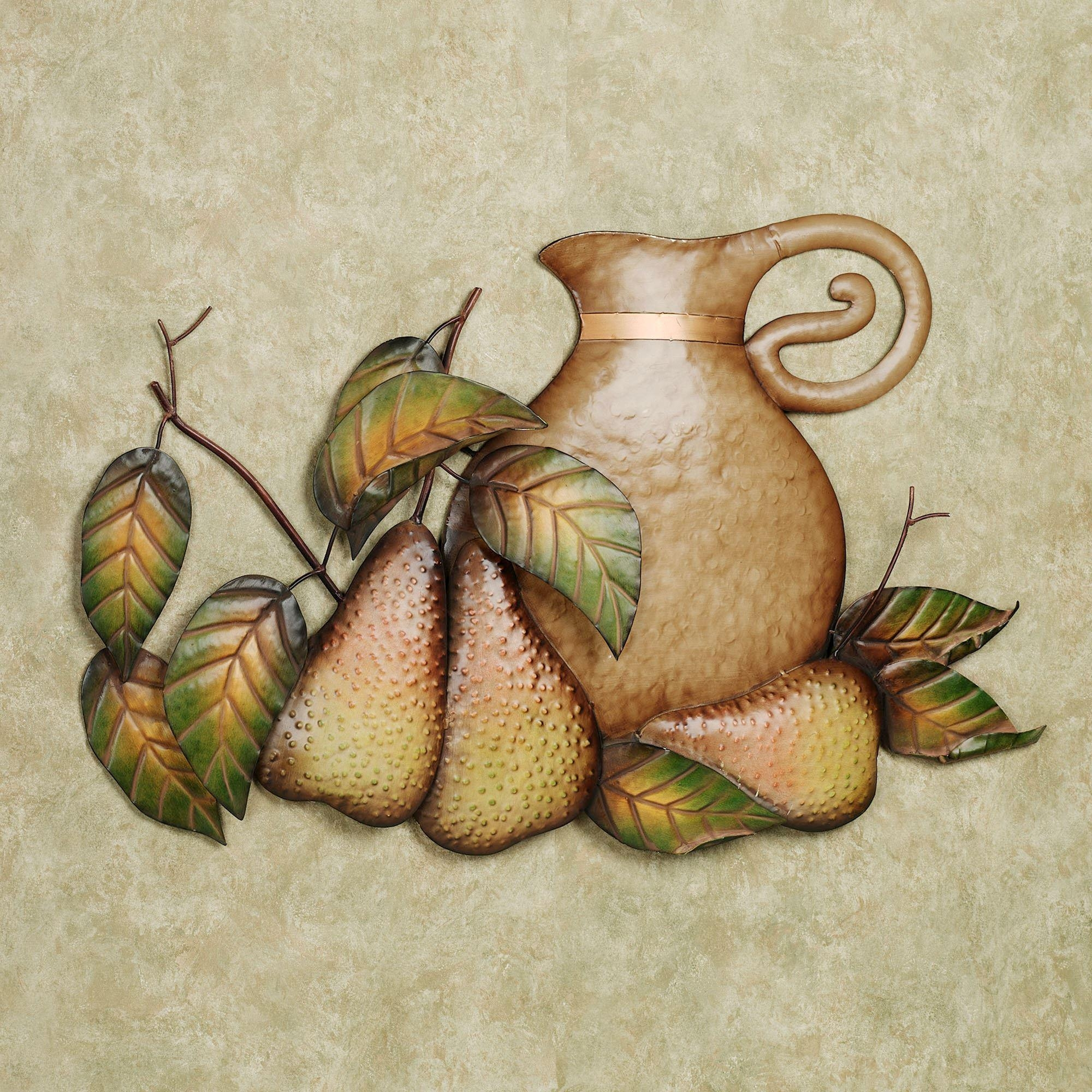 Fall Feast Pears Metal Wall Art Sculpture With Regard To Exclusive Wall Art (Image 13 of 20)