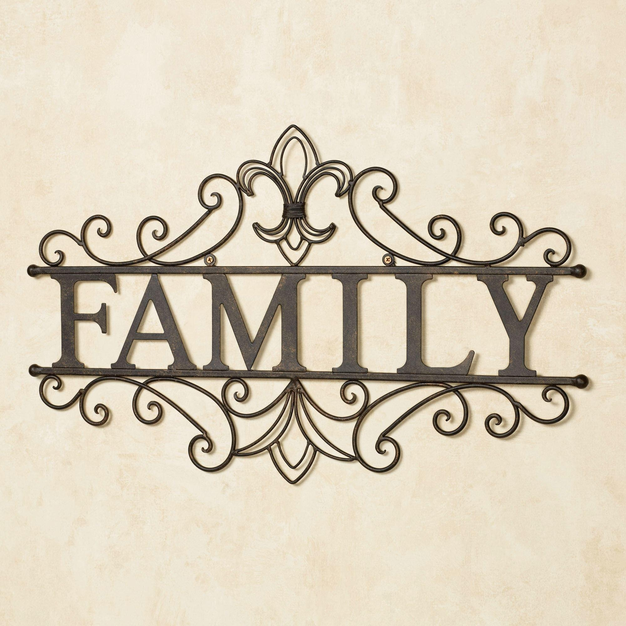 Family Metal Wall Art Sculpture With Regard To Family Photo Wall Art (View 4 of 20)