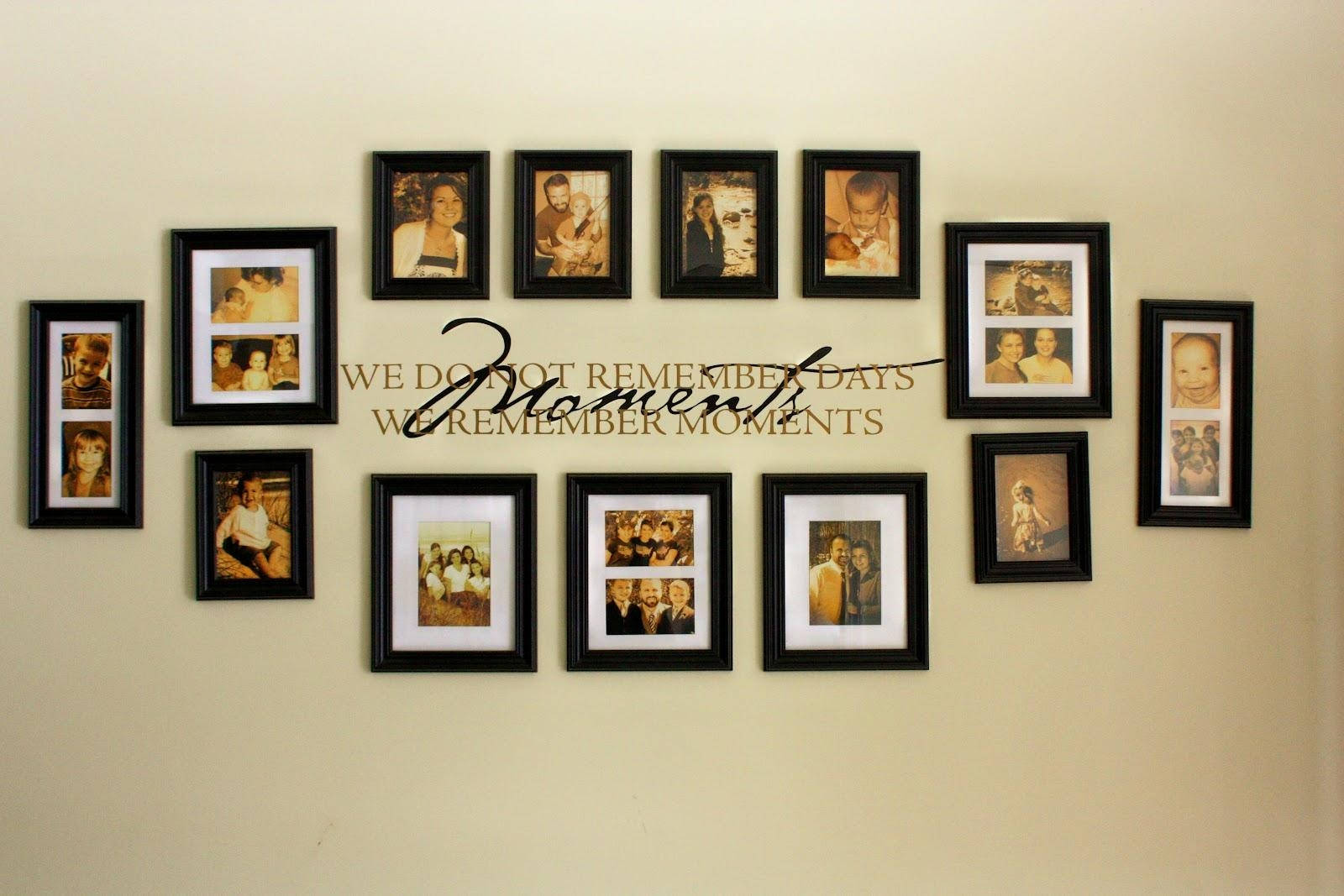 Family Photo Wall Decor Ideas Including Interesting Frame To Intended For Family Photo Wall Art (View 17 of 20)